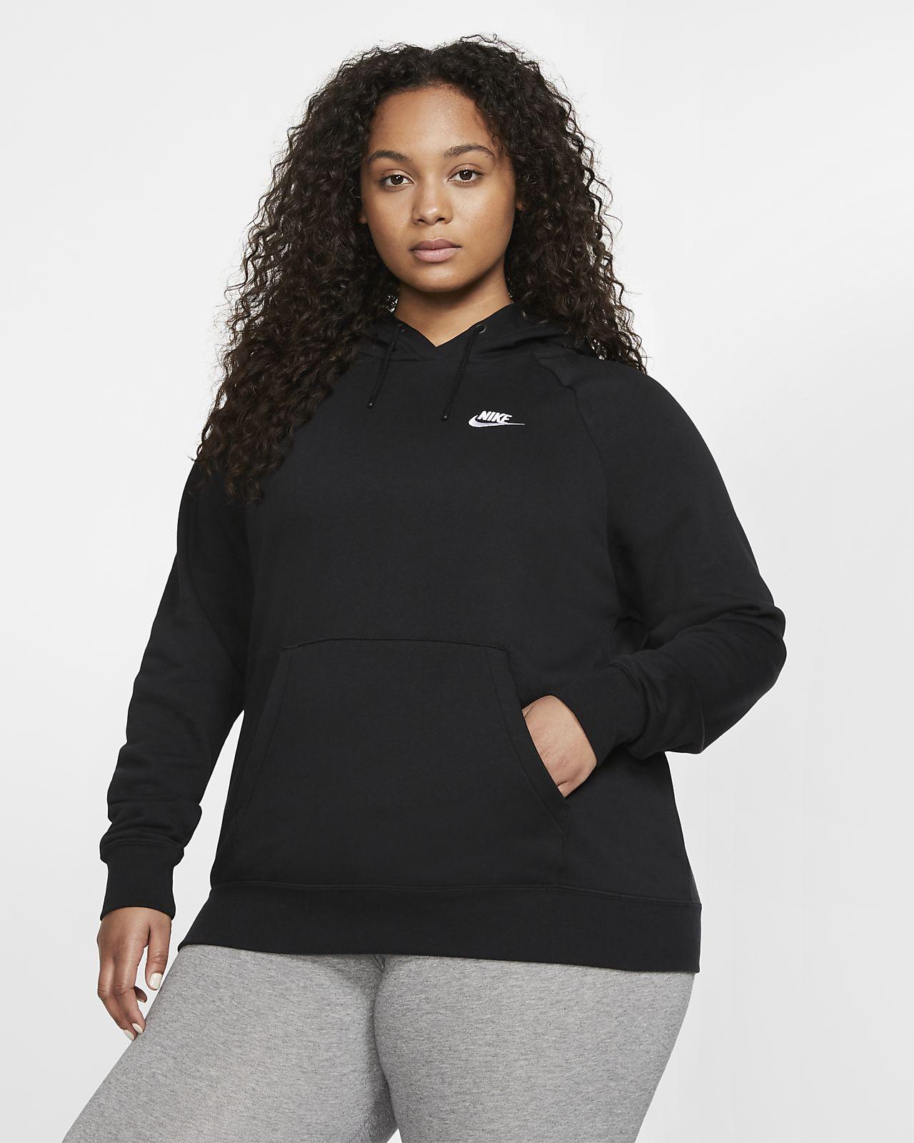 Nike Sportswear Essential Fleece-Hoodie für Damen (große Größe)
