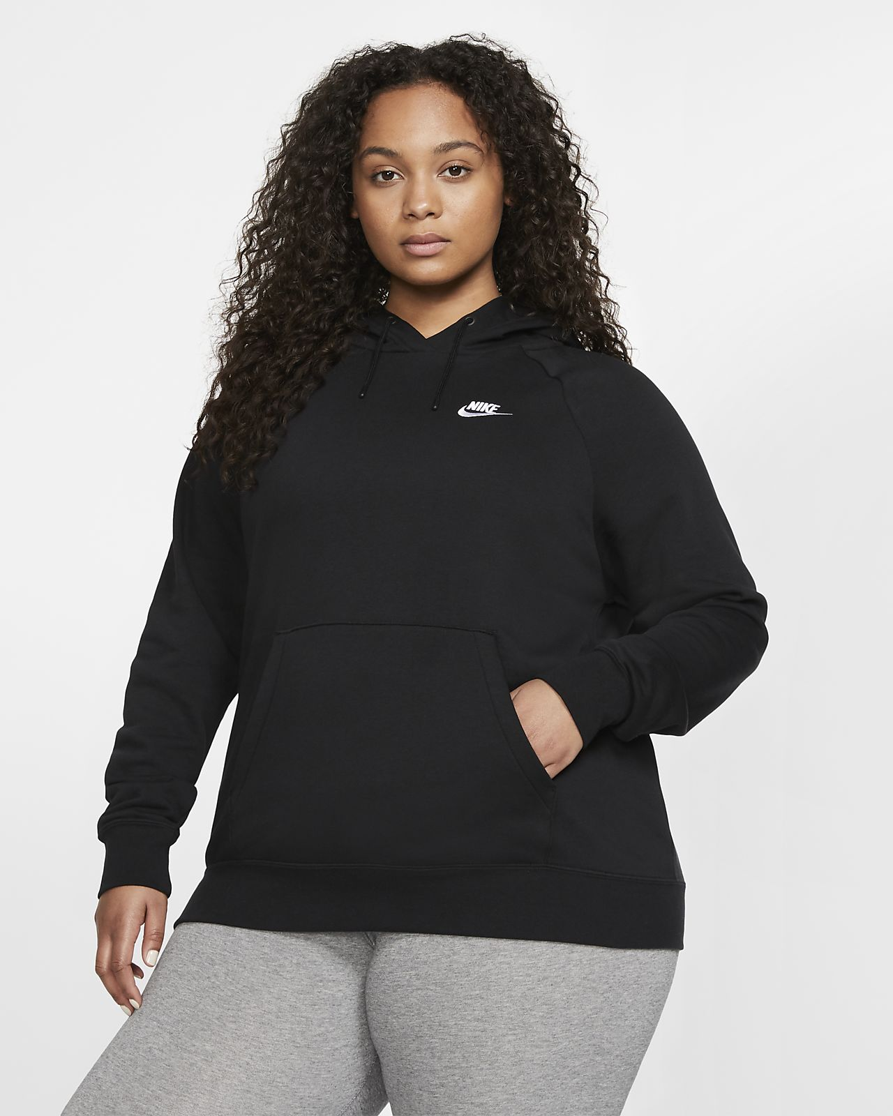 Nike Sportswear Essential Fleece Hoodie für Damen (große Größe)
