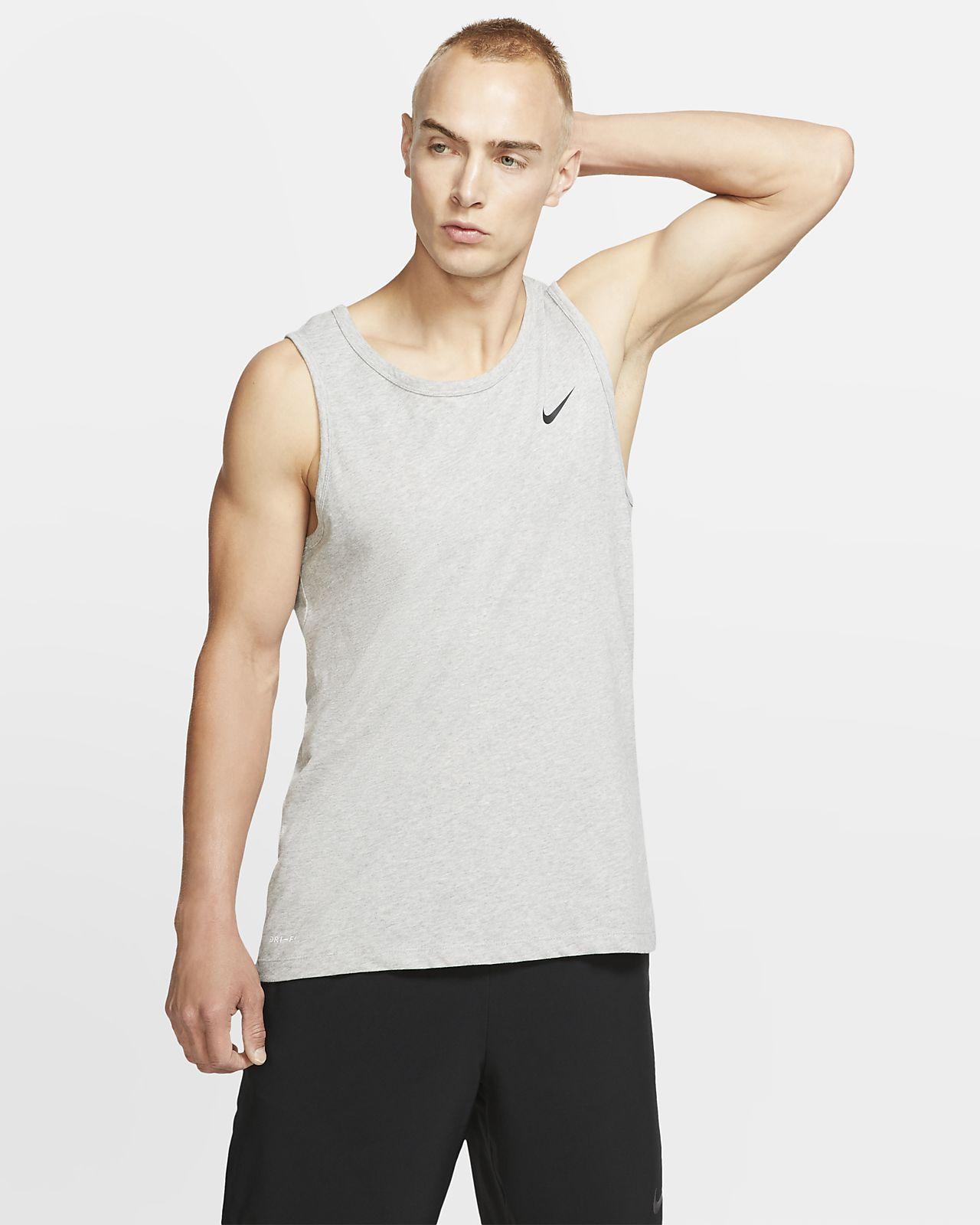 NIKE Herren Ärmelloses Shirt Dri Fit Training Muscle Herren