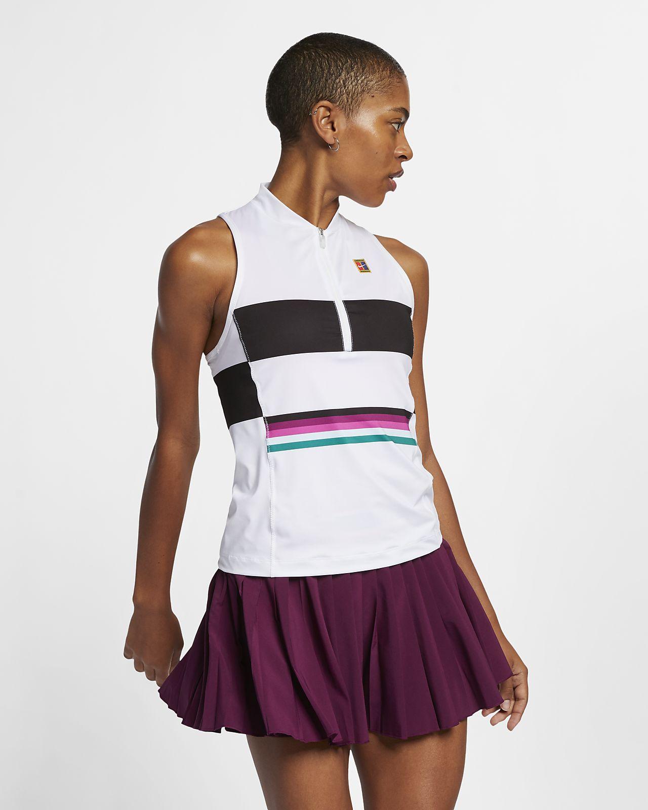 Camisola de ténis sem mangas estampada NikeCourt Power Slam para mulher