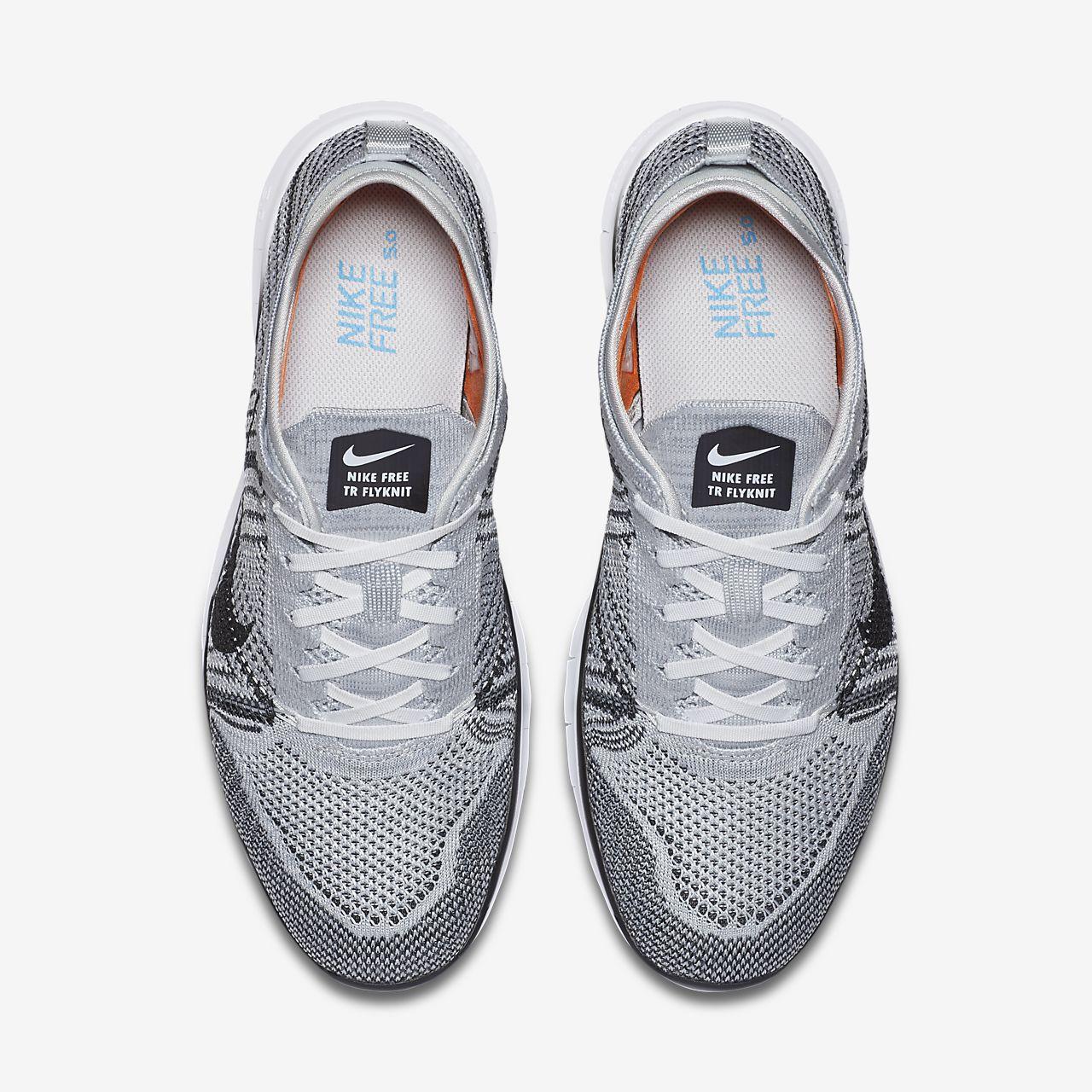Nike Free Tr 5 Flyknit Blanc / Platine Pur / Hyper Violet / Noir