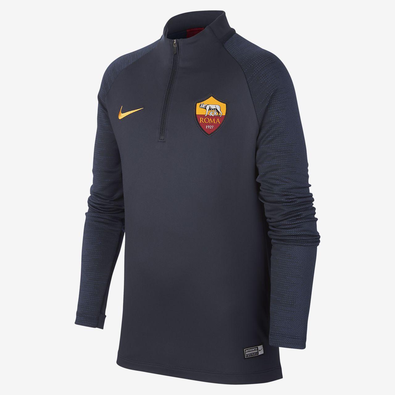 Nike Dri-FIT A.S. Roma Strike-fodboldtræningstrøje til store børn