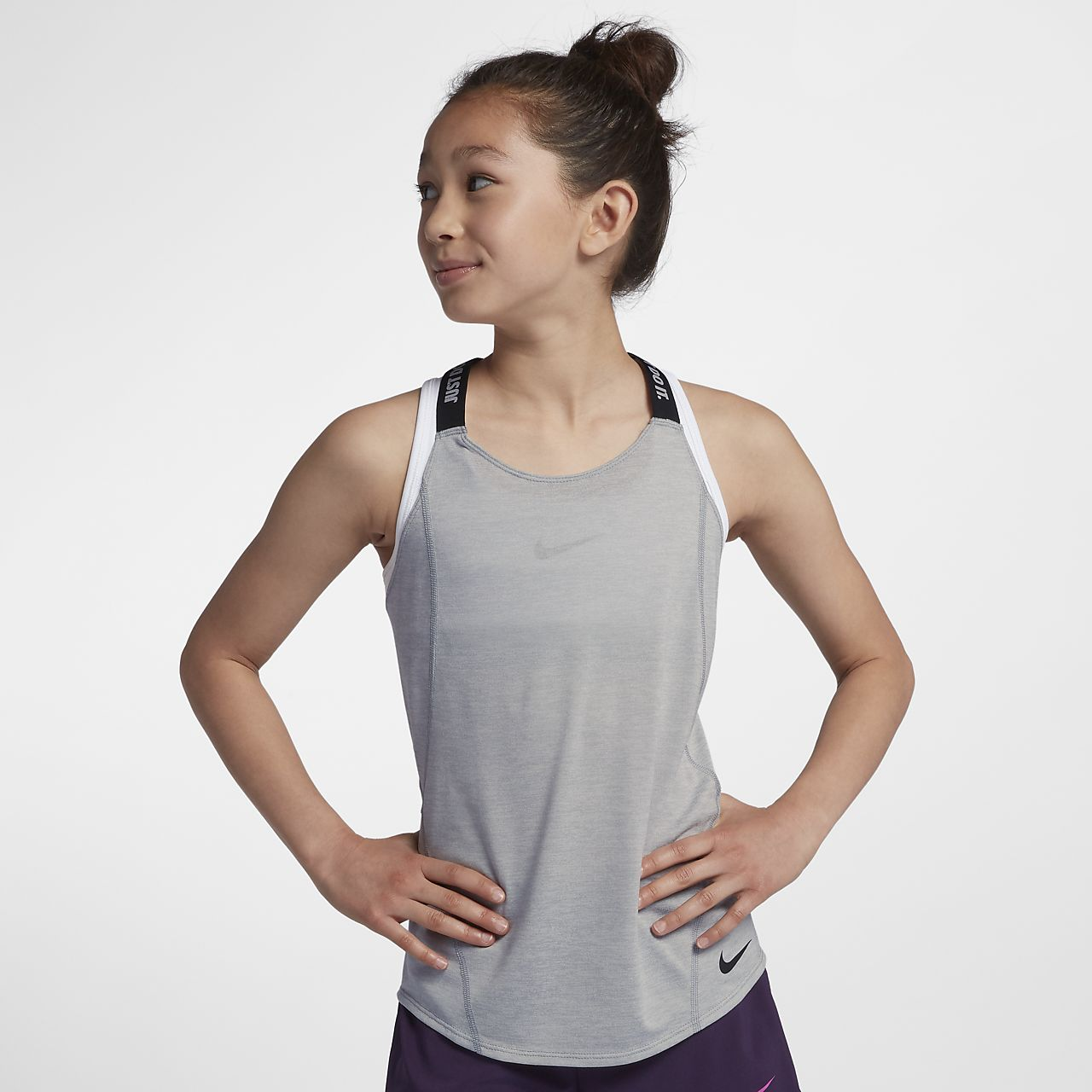 Camiseta de tirantes de entrenamiento para niña talla grande Nike Dri-FIT