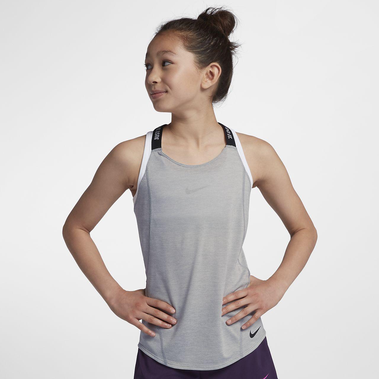 Camisola de treino sem mangas Nike Dri-FIT Júnior (Rapariga)