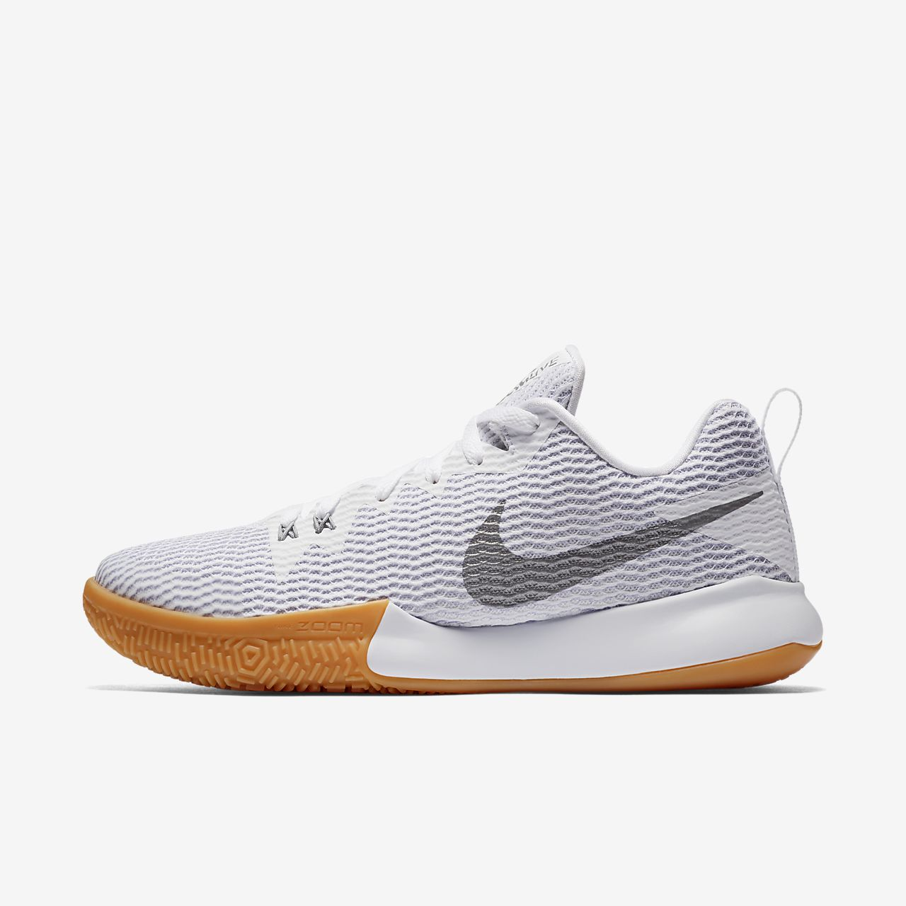 Nike PerformanceZOOM LIVE II - Basketball shoes - white/reflect silver/pure platinum Y9gKzZyXr