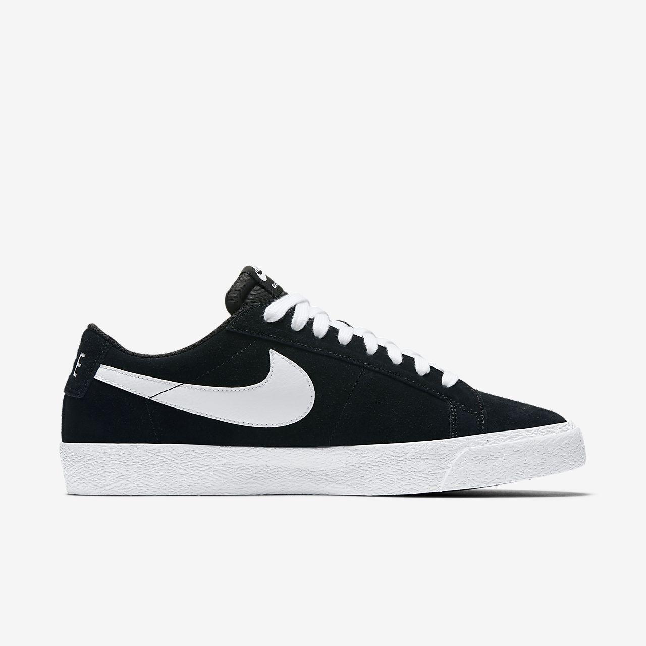 Nike Zoom Blazer Sb Chaussures Basses Noir Blanc cBUnjHQ3Jm