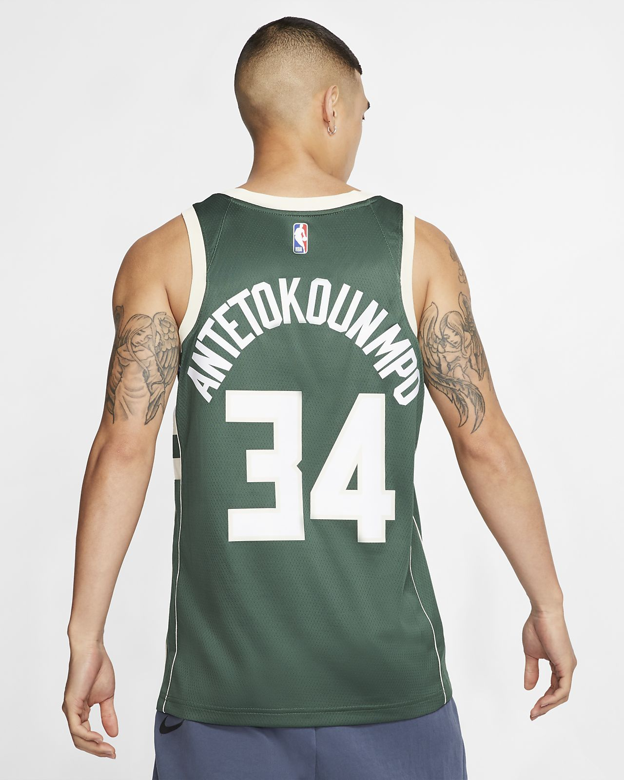 d39e0c8f3c3 ... Giannis Antetokounmpo Icon Edition Swingman (Milwaukee Bucks) Men's Nike  NBA Connected Jersey