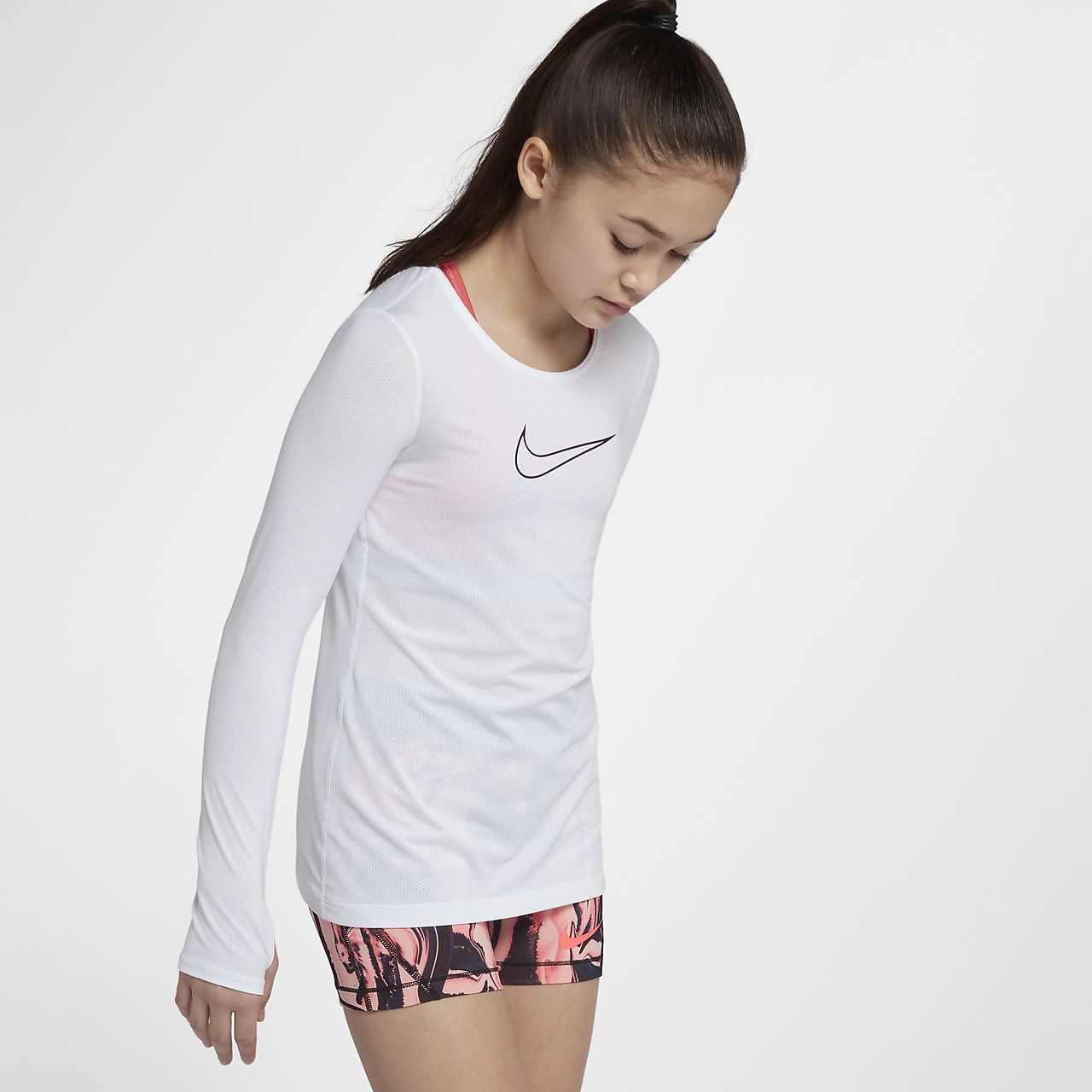 f921cdc8a9 Girls Shirts Nike Childrens Pro Long Sleeve Top