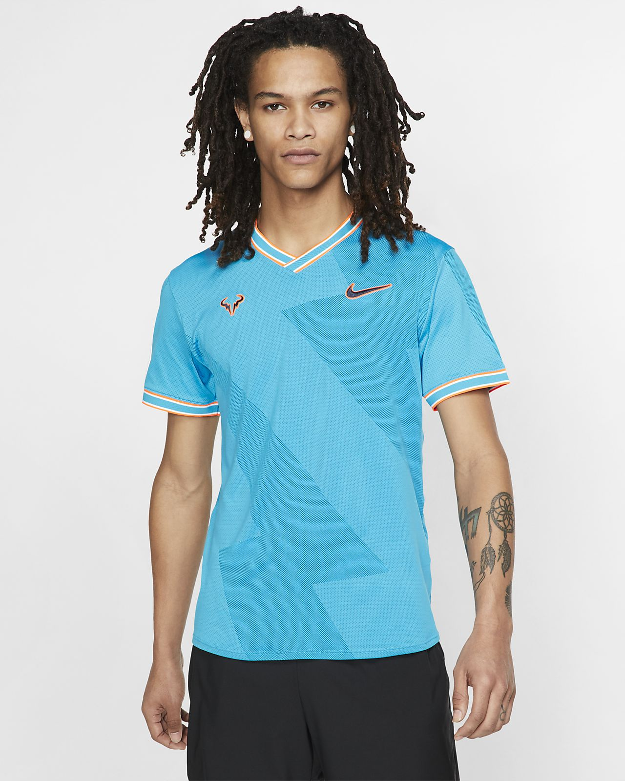Camisola de ténis de manga curta NikeCourt AeroReact Rafa para homem