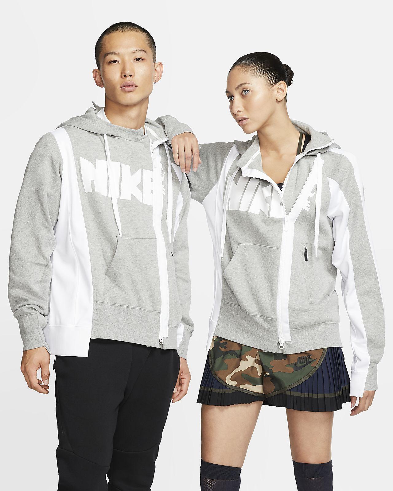 Nike x Sacai 女子双拉链连帽衫