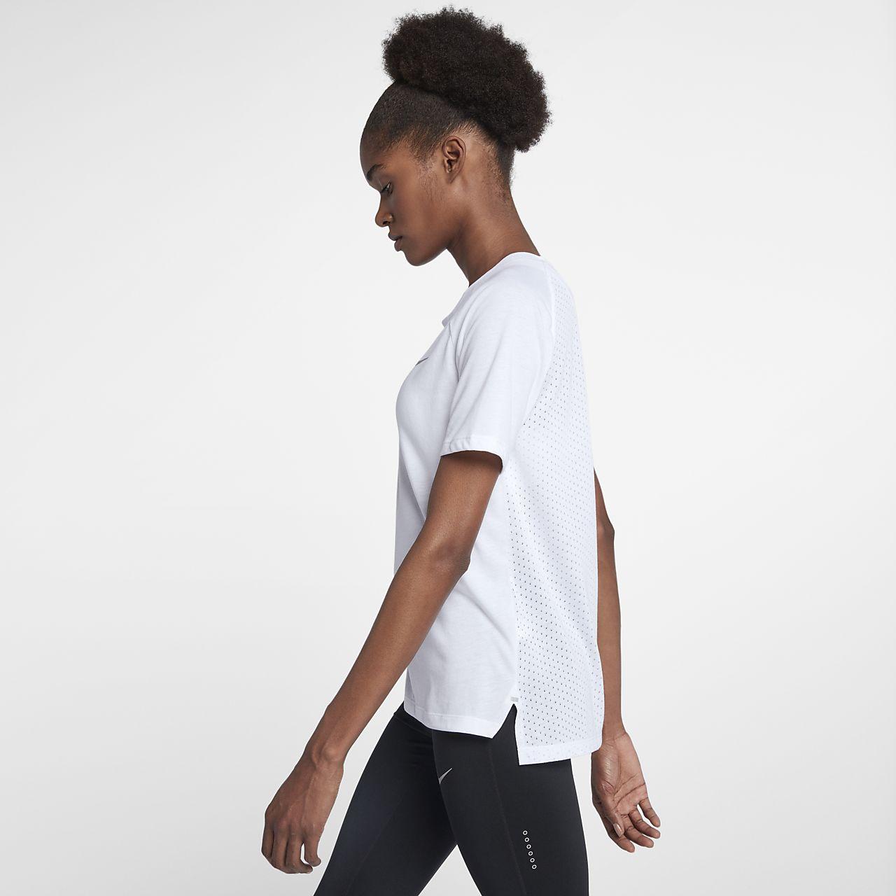Nike Dri-FIT Tailwind 女子短袖跑步上衣