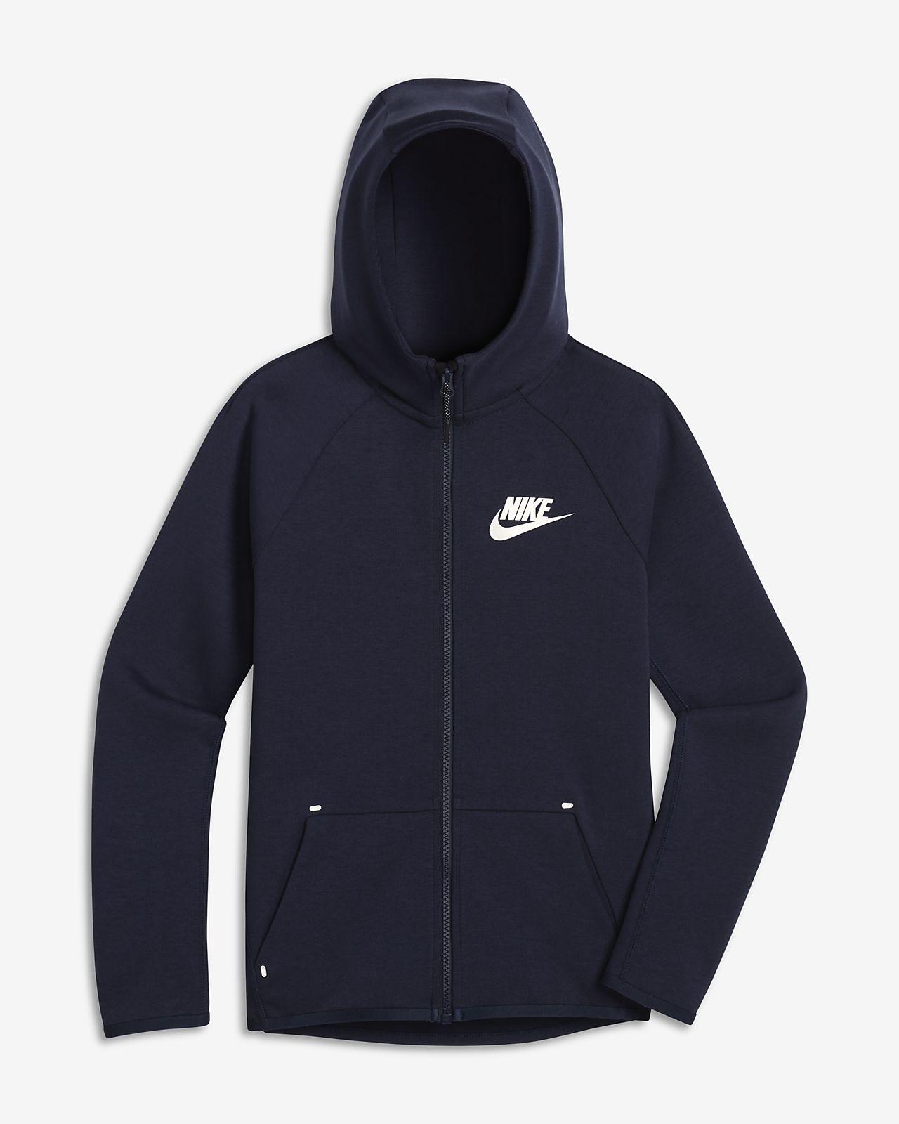 Nike Sportswear Tech Fleece hosszú cipzáras kabát nagyobb gyerekeknek