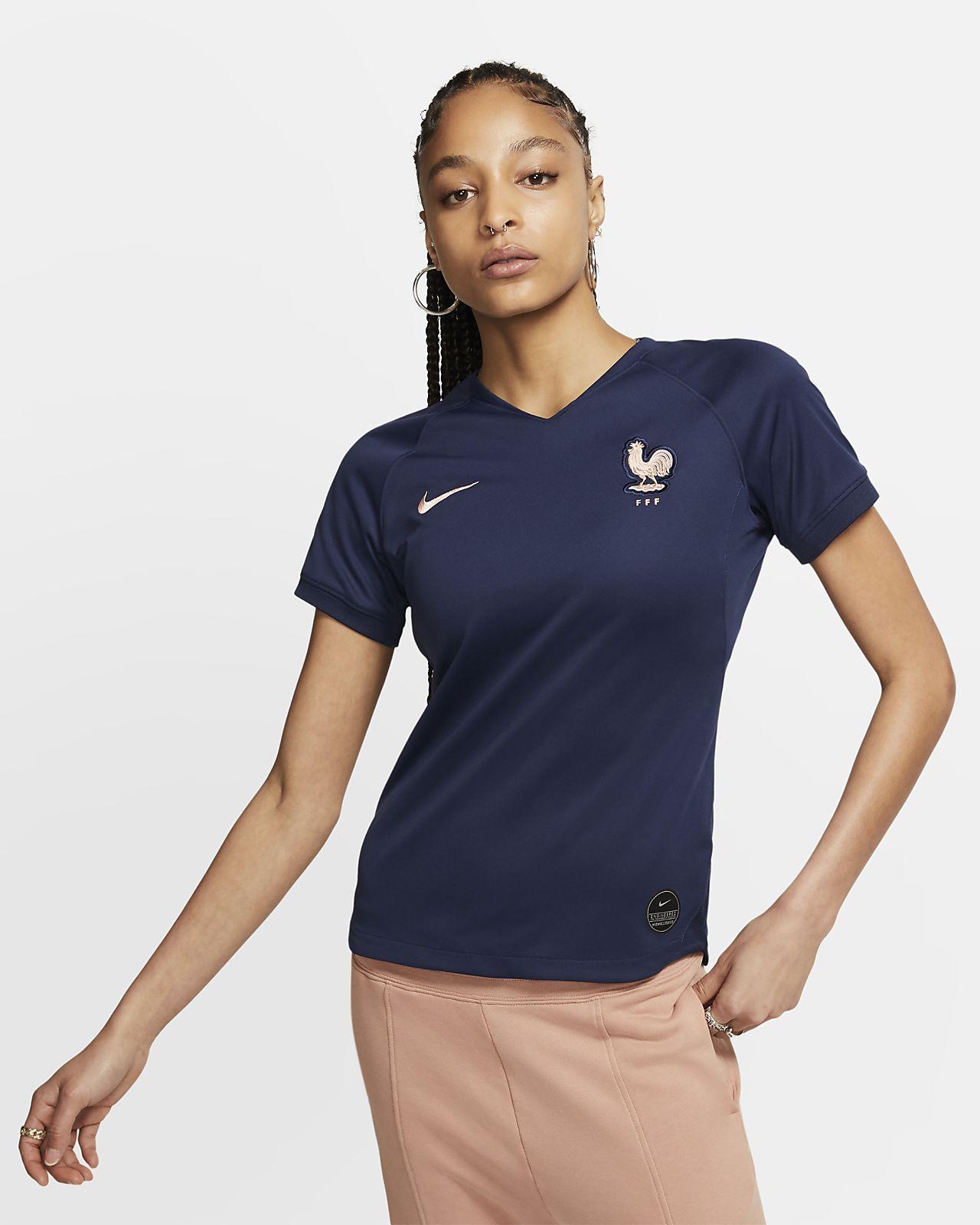 フランス FFF 2019 スタジアム ホーム ウィメンズ サッカーユニフォーム