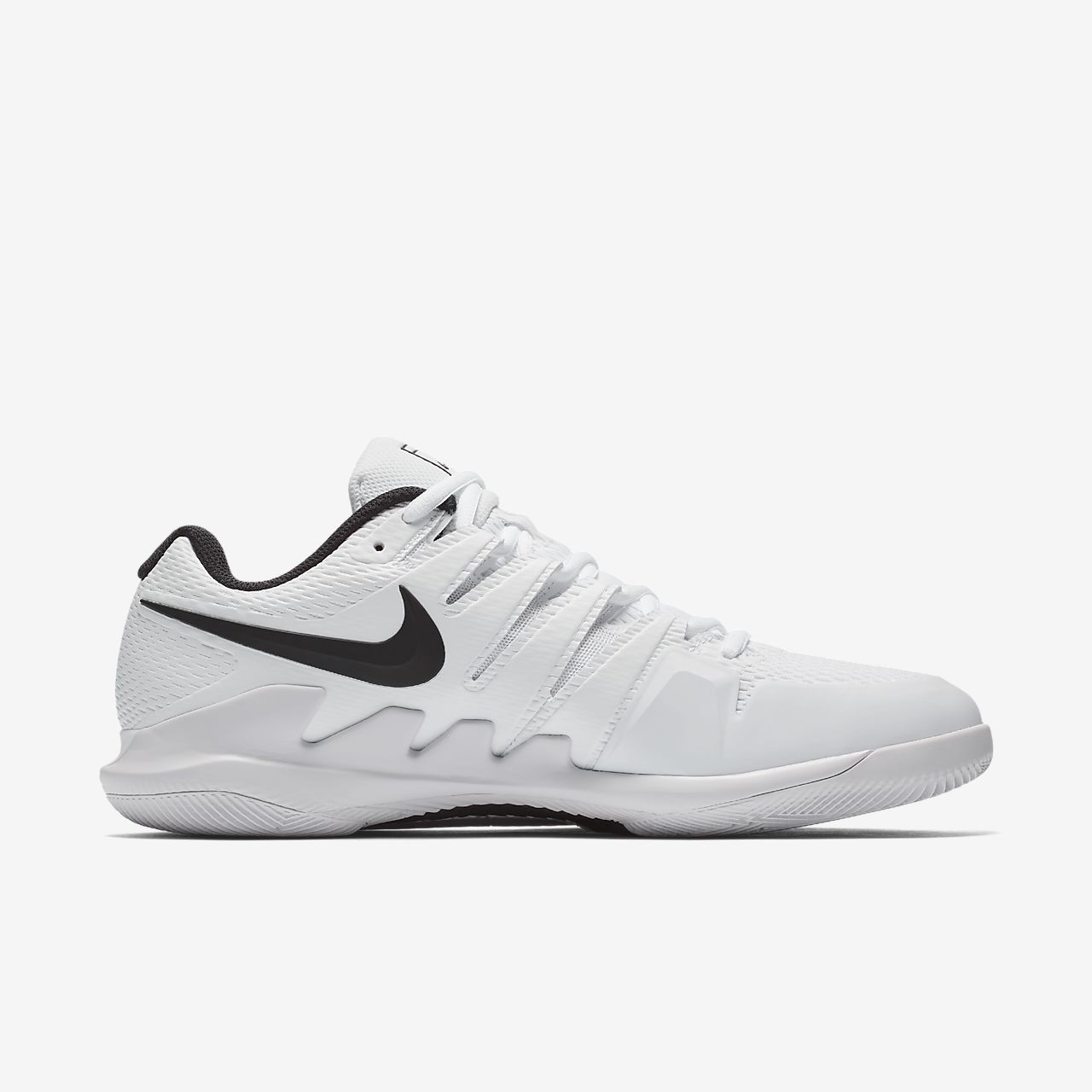 Nike Performance AIR ZOOM VAPOR X HC - Outdoor tennis shoes - white/vast grey 8RqDlxFVK