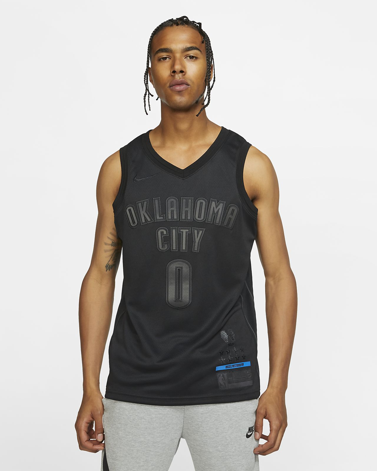 俄克拉荷马城雷霆队 (Russell Westbrook) MVP Swingman Nike NBA Connected Jersey 男子球衣