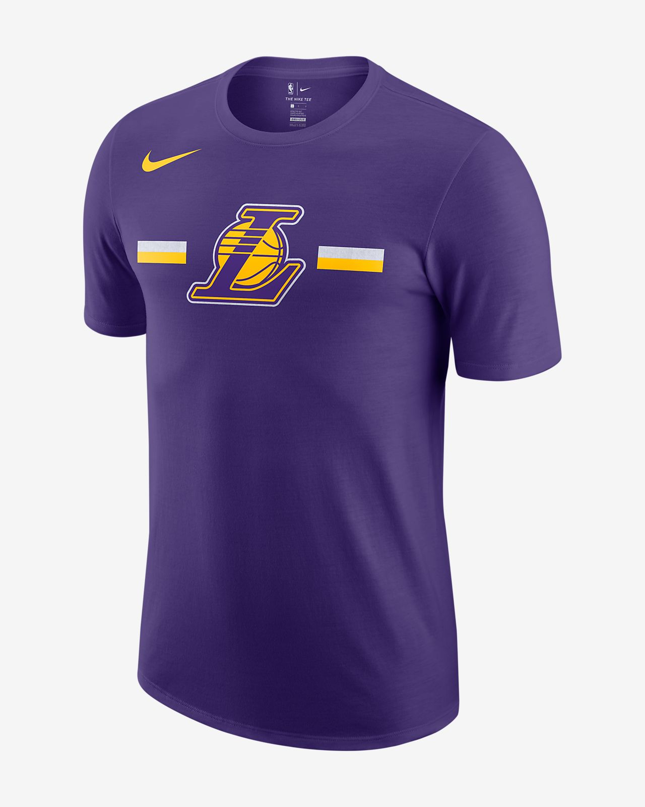 ab73fac46cf Los Angeles Lakers Nike Dri-FIT Men's NBA T-Shirt. Nike.com IN