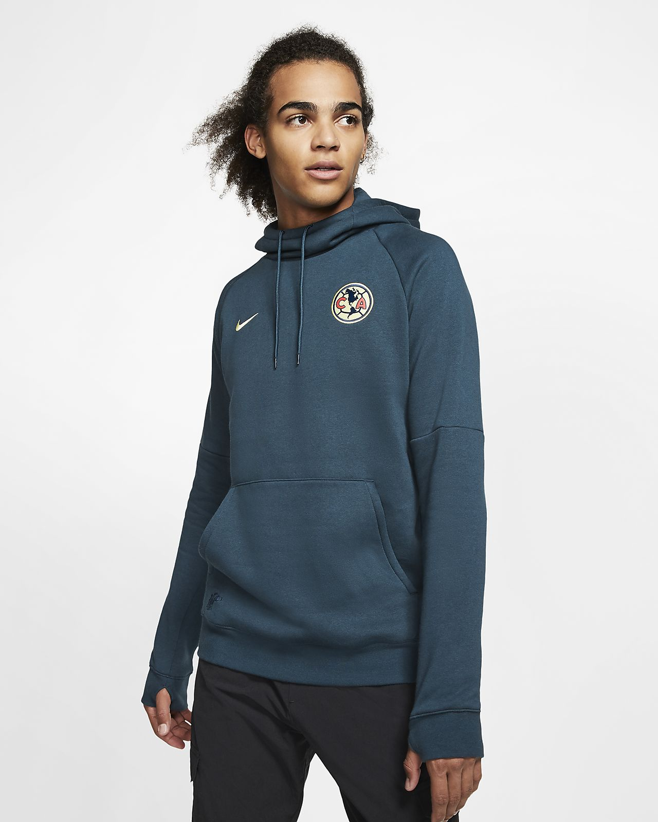 Club America Men's Fleece Pullover Soccer Hoodie