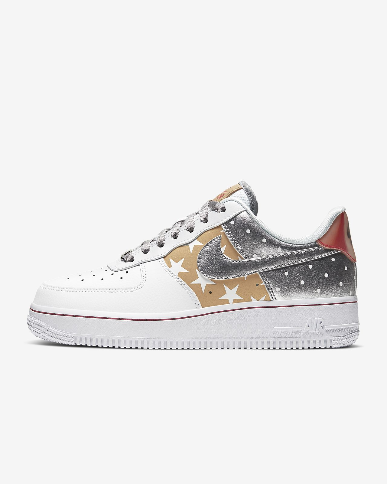 Nike Air Force 1 '07 Sneakers bianco e oro