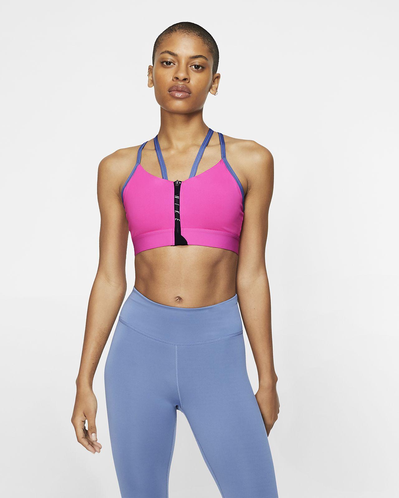Sujetador deportivo de sujeción ligera con cierre para mujer Nike Indy