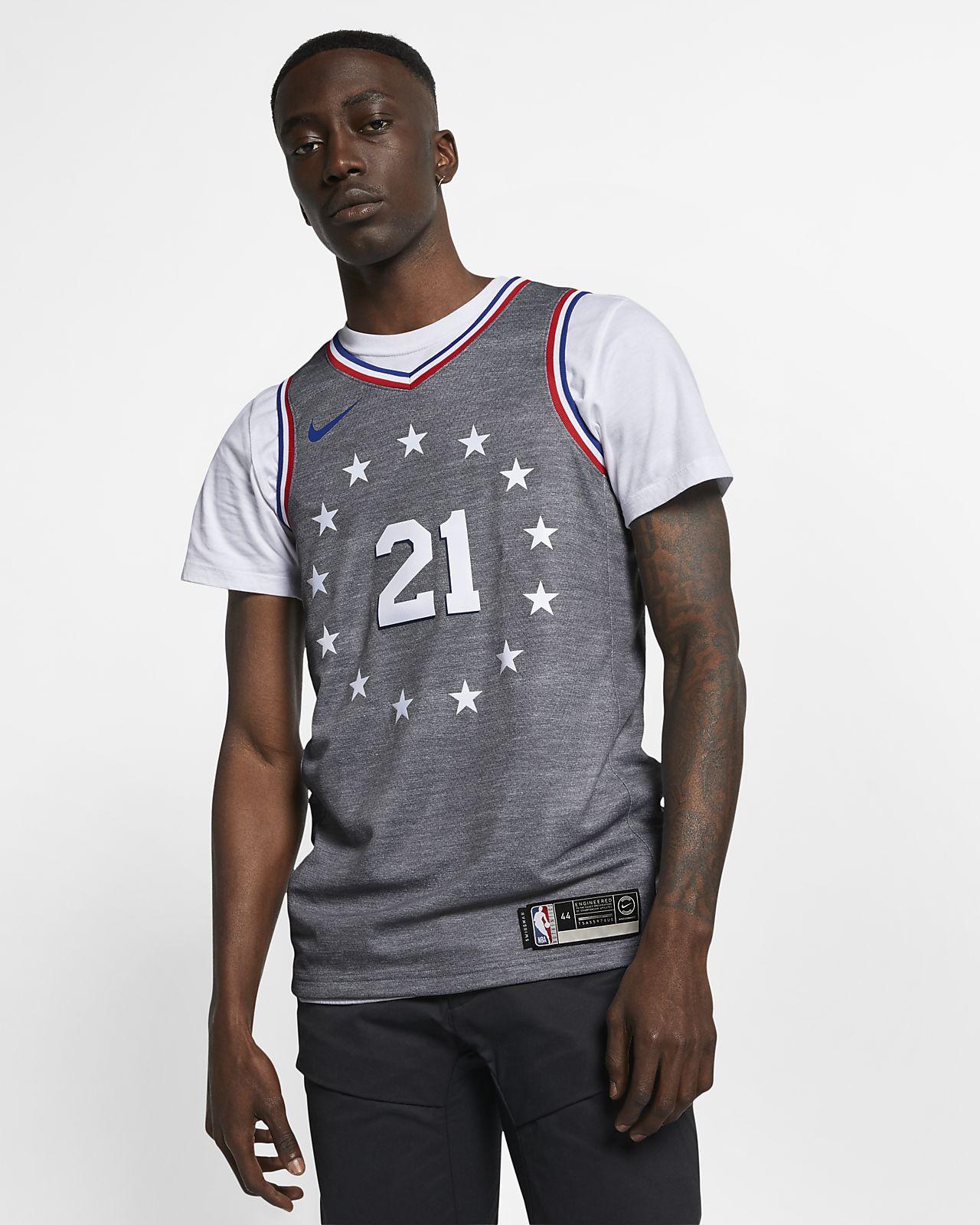 huge discount 69fd2 2acf5 Maillot connecté Nike NBA Joel Embiid City Edition Swingman (Philadelphia  76ers) pour Homme