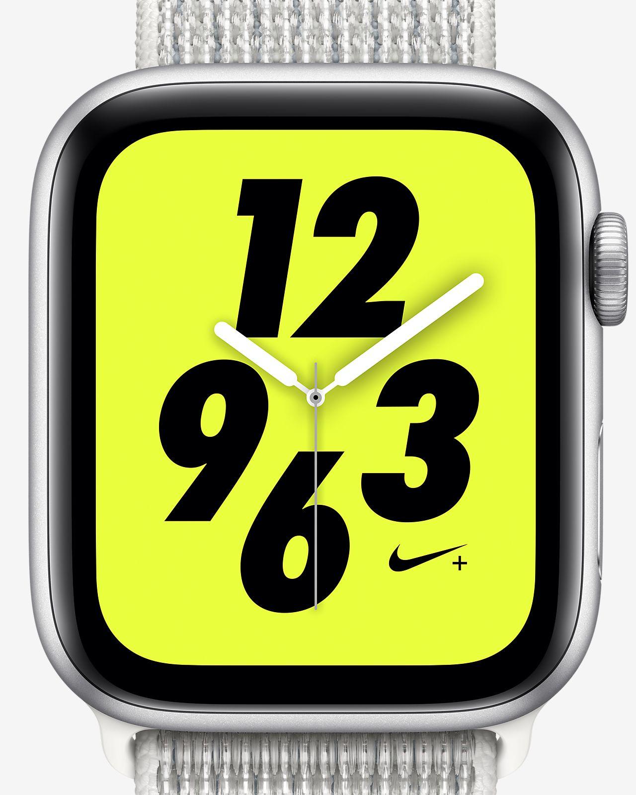 Montre Sport 44 mm Apple Watch Nike+ Series 4 (GPS + Cellular) avec bracelet Nike Sport Loop