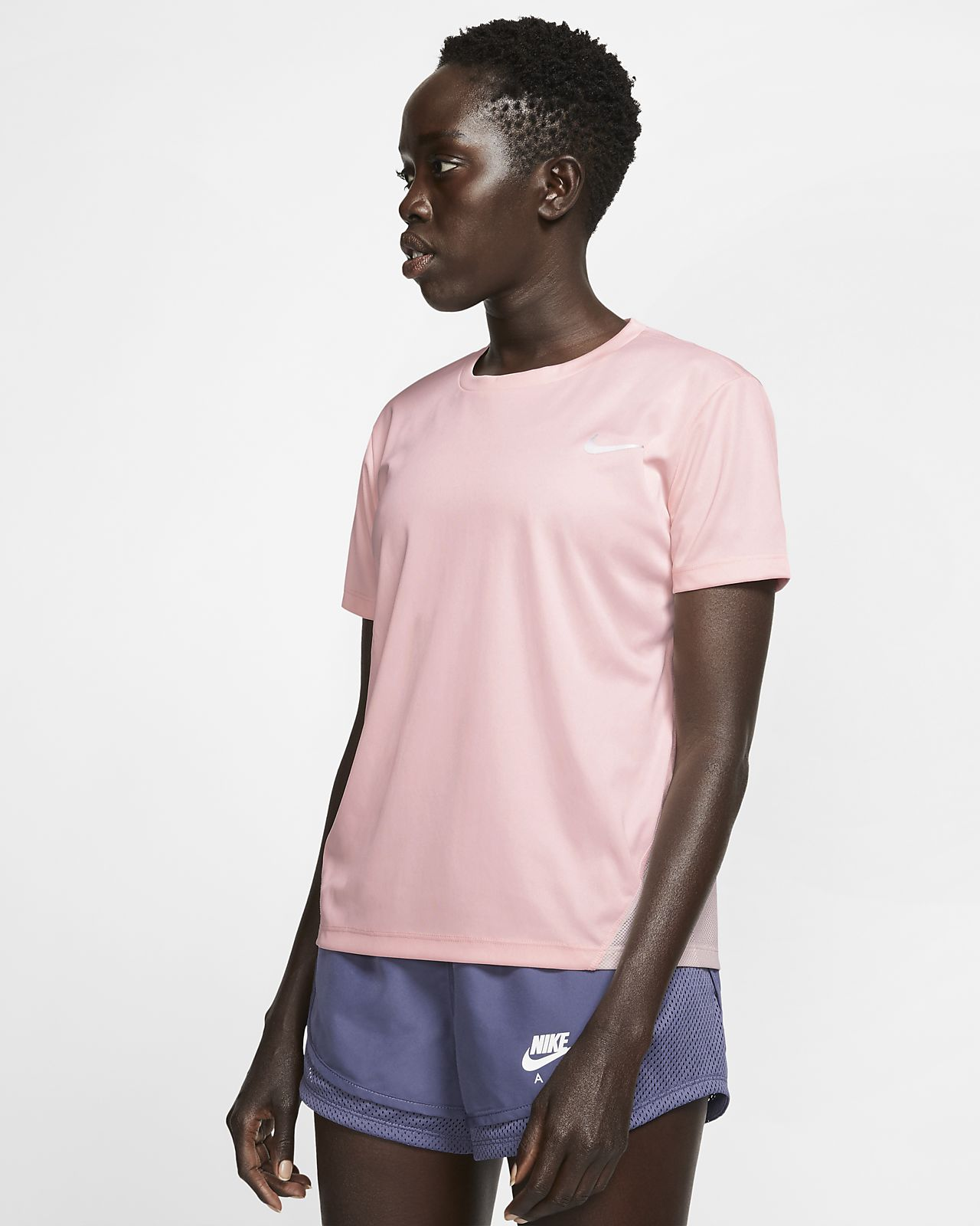 Γυναικεία κοντομάνικη μπλούζα για τρέξιμο Nike Miler