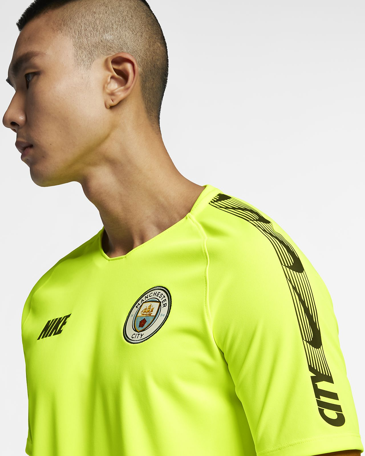 Haut de football Manchester City FC Breathe Squad pour Homme