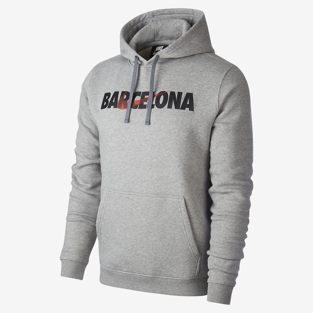 Sweat à capuche imprimé Nike Sportswear Club Fleece (Barcelona) pour Homme