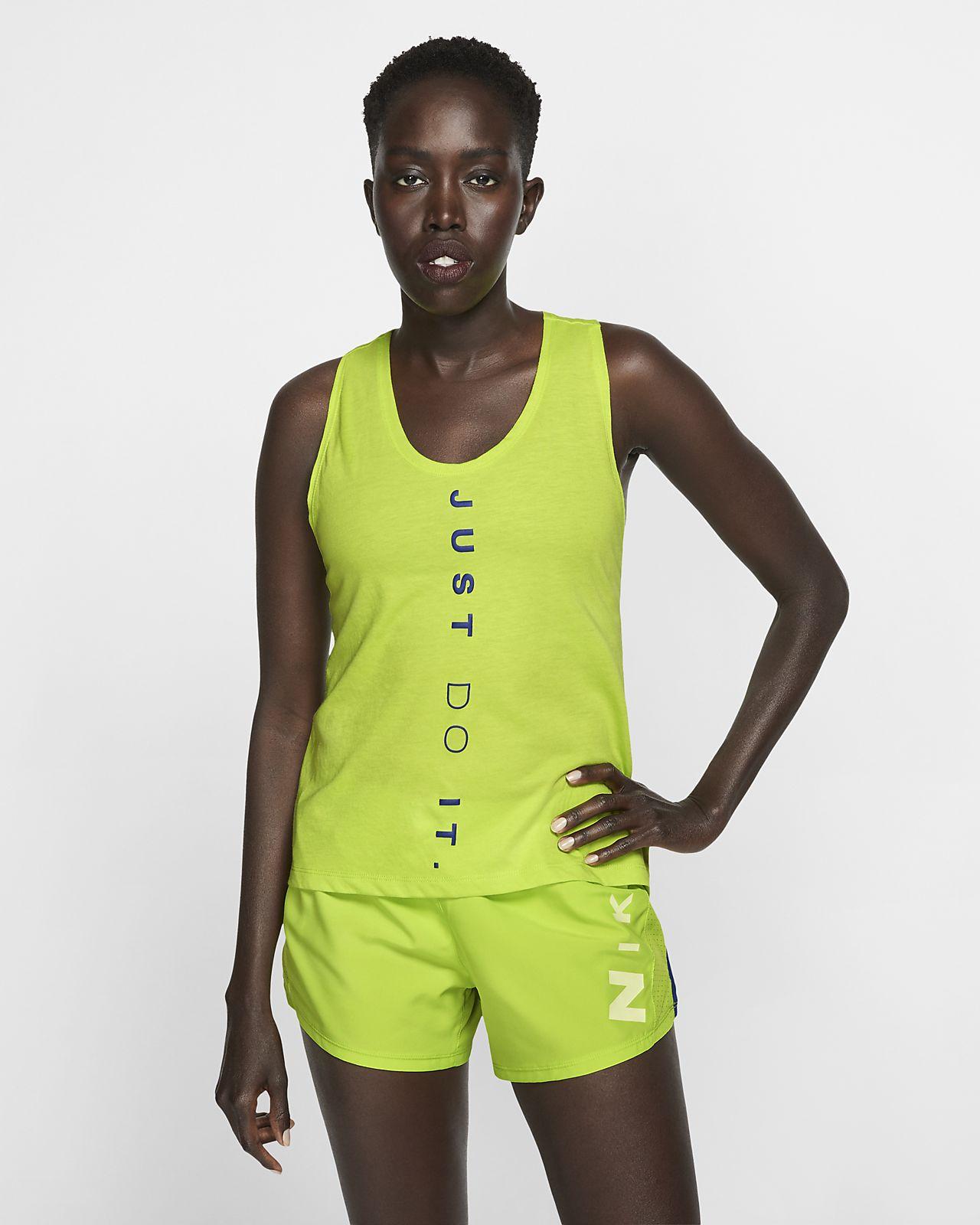 Nike Dri-FIT Miler-løbetanktop til kvinder