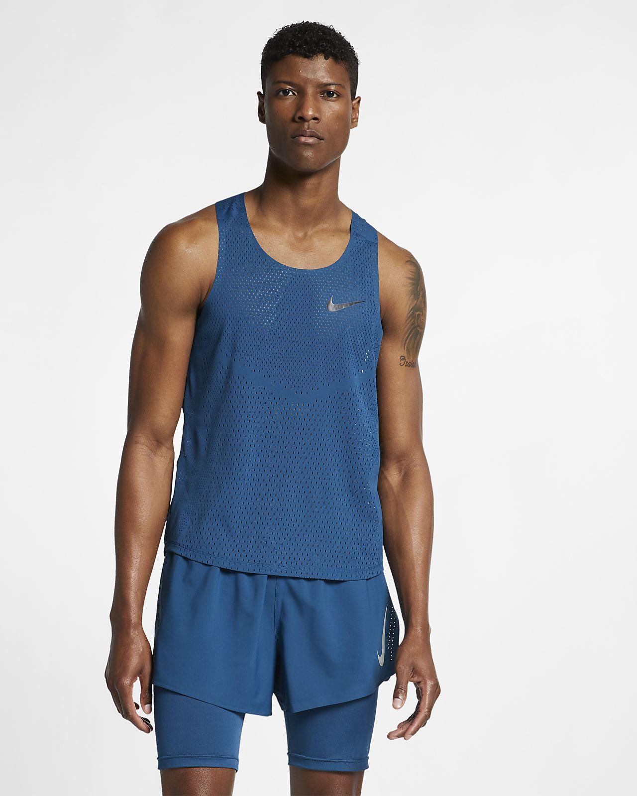 Męska koszulka bez rękawów do biegania Nike AeroSwift