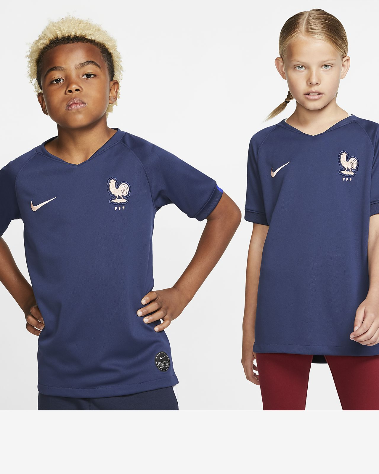 Maillot de football FFF 2019 Stadium Home pour Enfant plus âgé