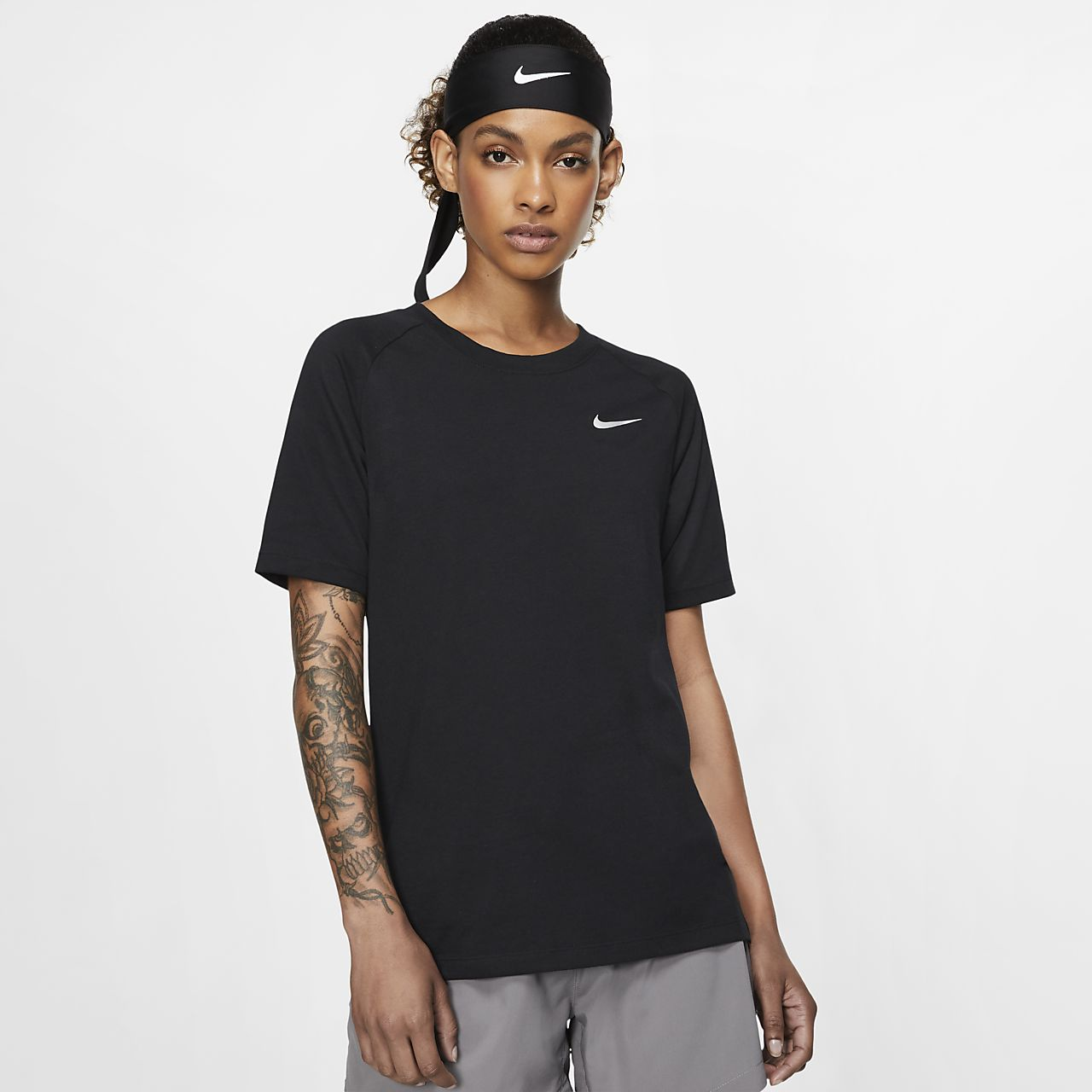 low priced c5734 f7d8d Haut de running à manches courtes Nike Dri-FIT Tailwind pour Femme
