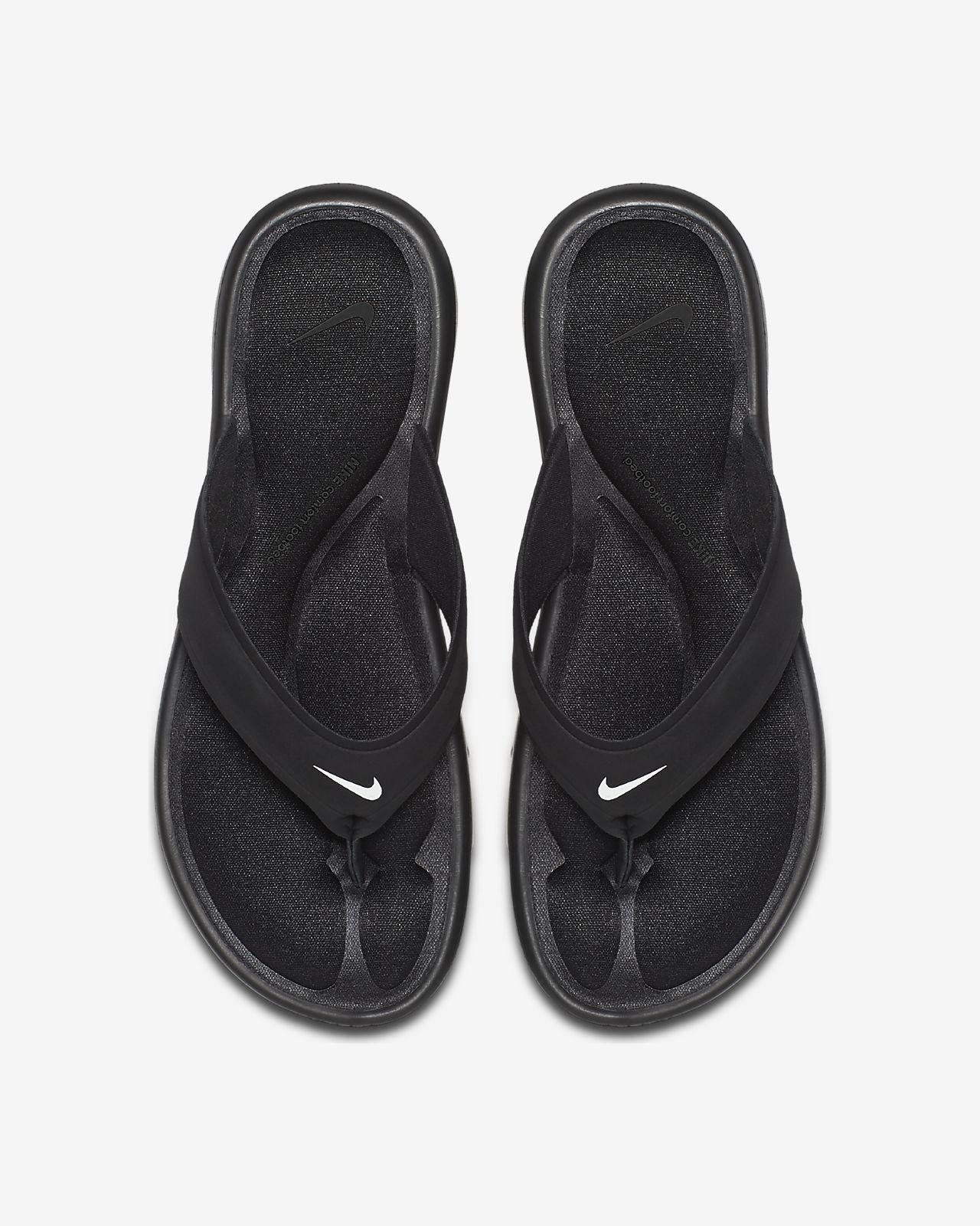 1e69330235e6 ... sandals 882697 001 black 514f5 039fb  best price nike ultra comfort  womens flip flop 6b43b d4005