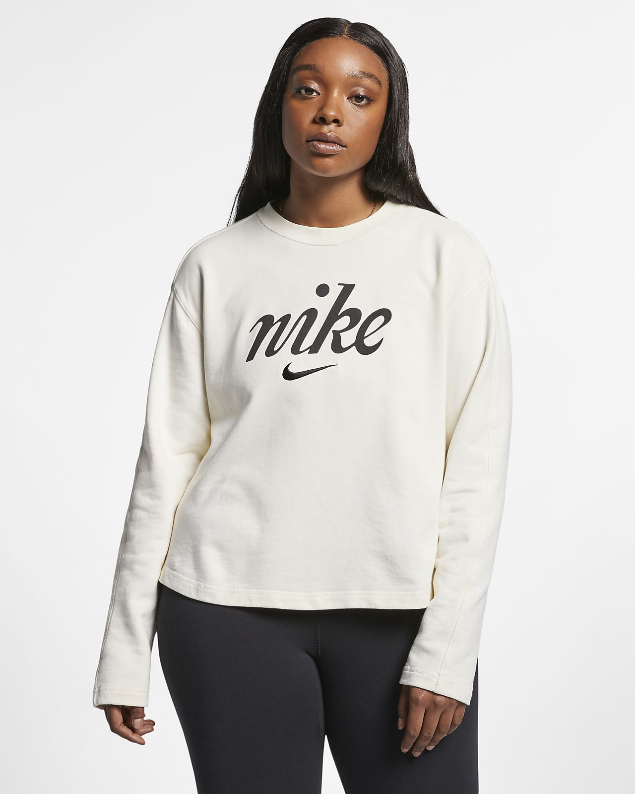 cde8e16ad Nike Sportswear Women s Cropped Crew (Plus Size). Nike.com