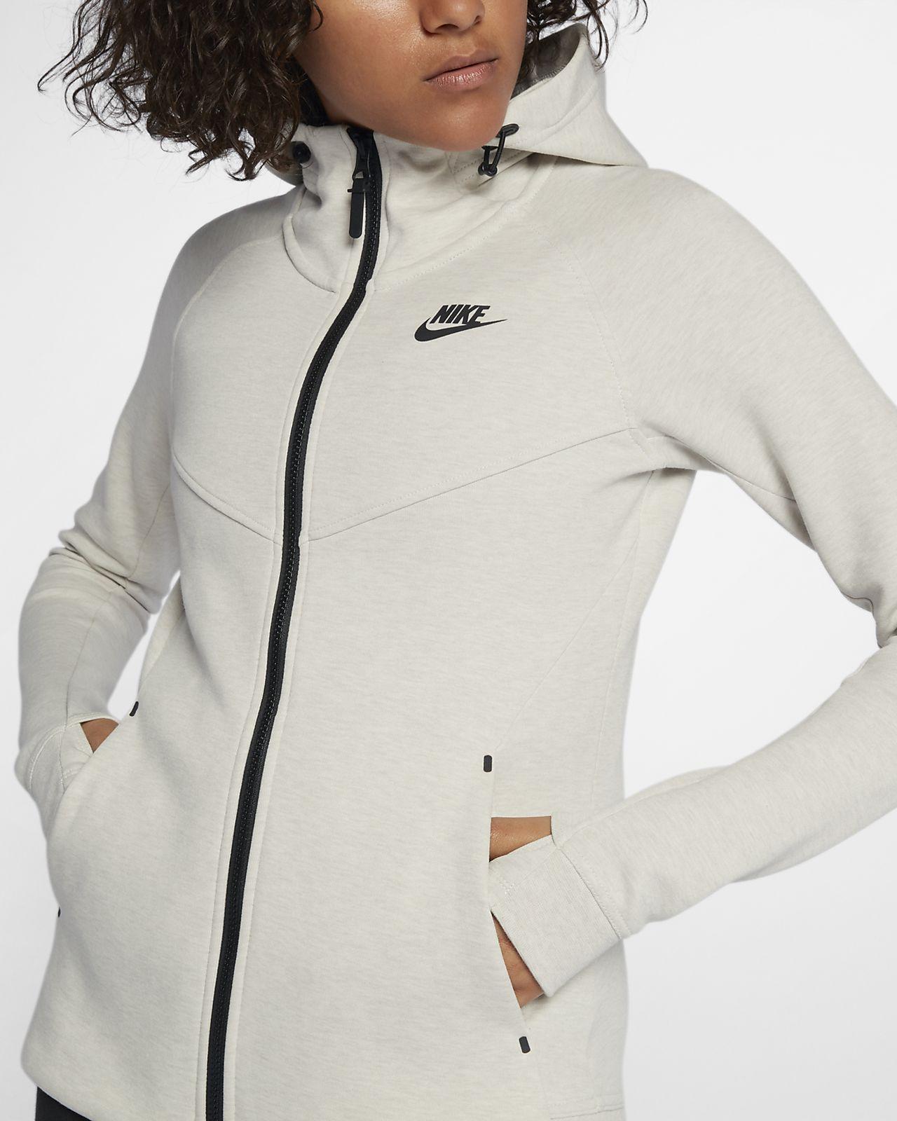 sweat capuche enti rement zipp nike sportswear tech fleece windrunner pour femme ch. Black Bedroom Furniture Sets. Home Design Ideas