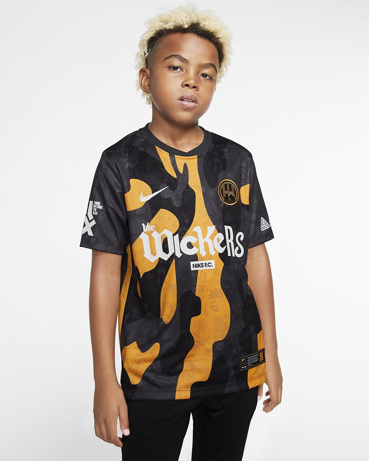 Camiseta de fútbol para niños talla grande Hackney Wick FC Home