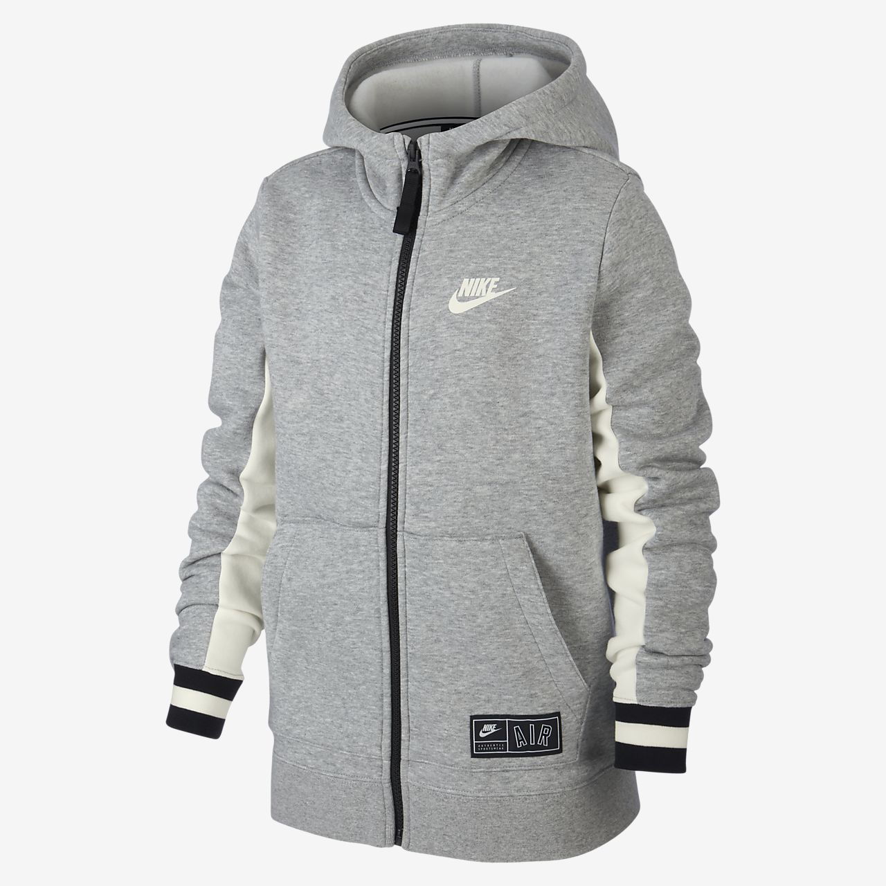 Nike Sportswear Older Kids'(Boys') Full Zip Hoodie Green