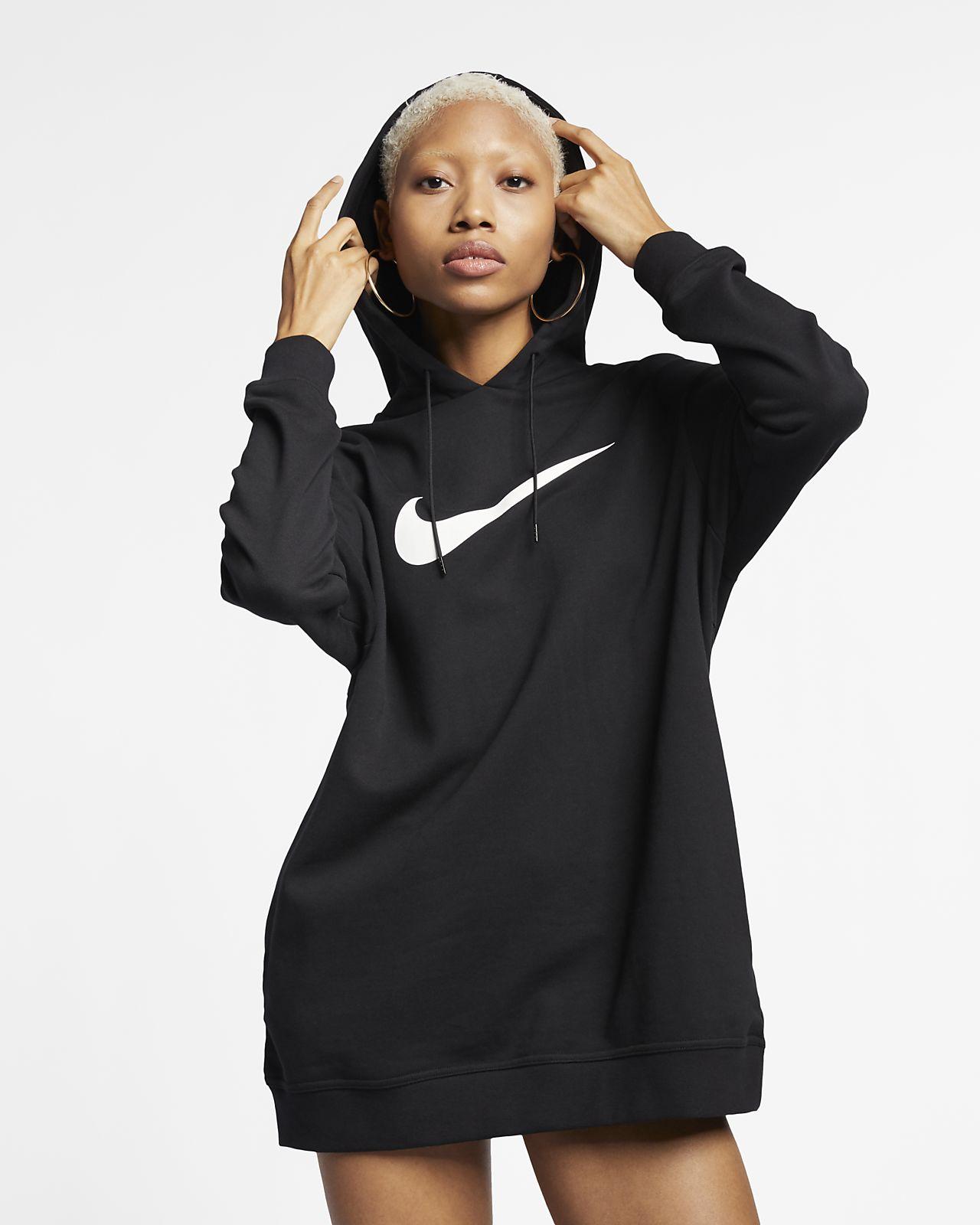 Nike Sportswear Swoosh Hoodie van sweatstof voor dames
