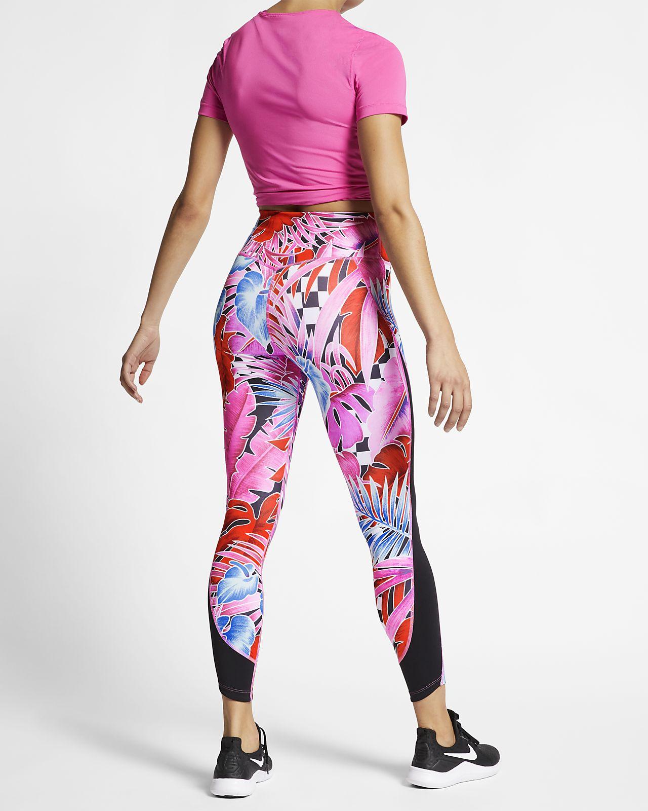 0dc8ded19cb Nike One 7/8-trainingstights met print voor dames. Nike.com BE