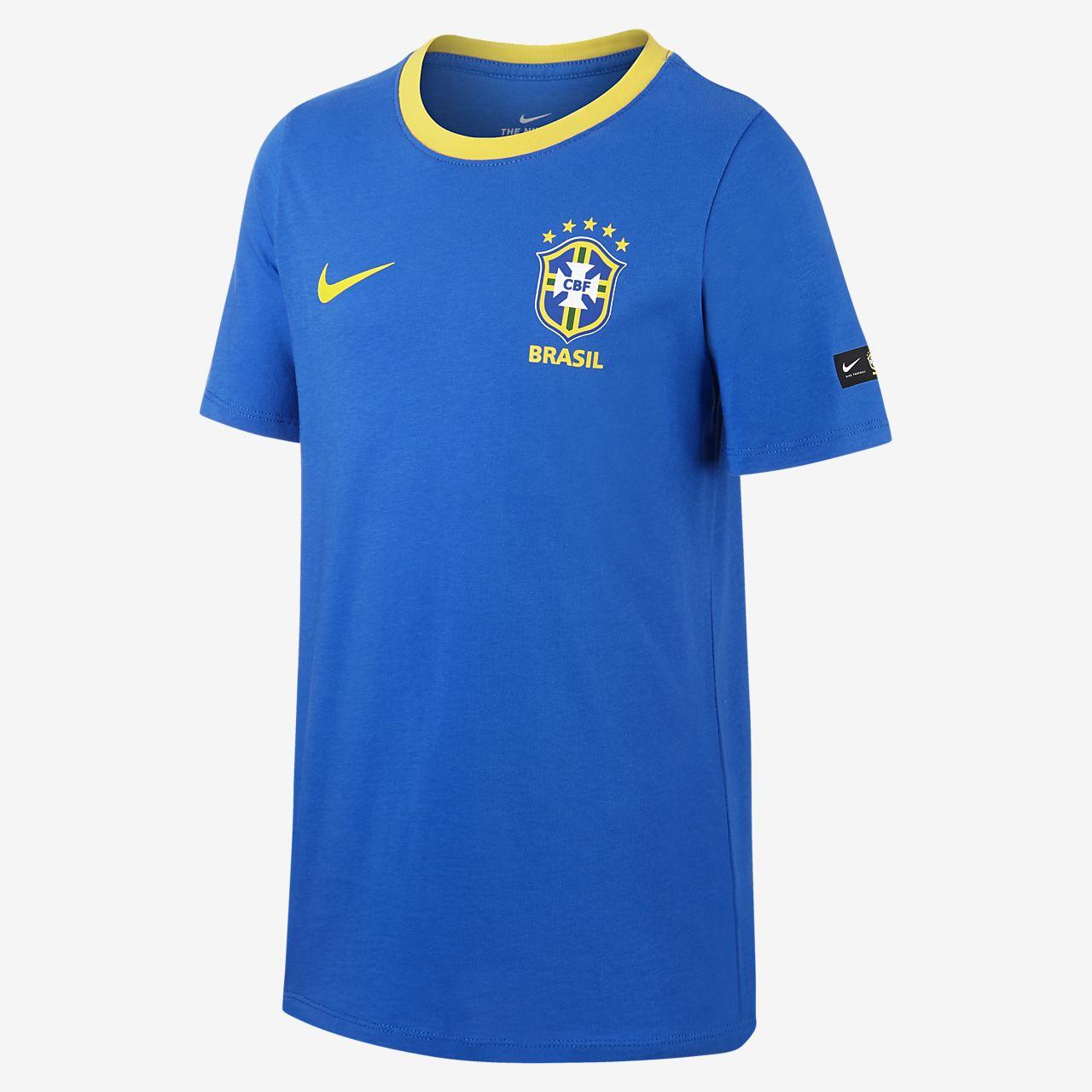 Brasil CBF Crest T-skjorte til store barn (gutt)