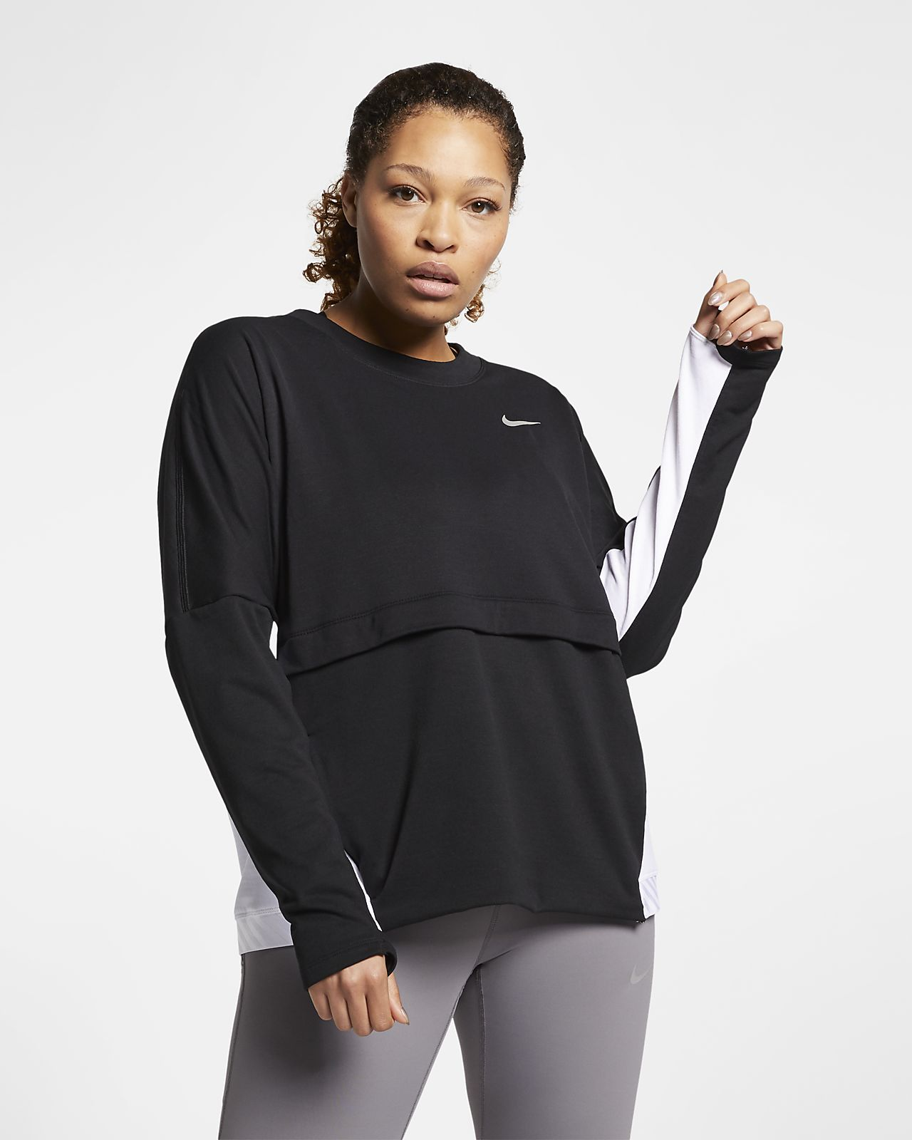 c443f74ad3a Nike Therma-Sphere Women s Running Top (Plus Size). Nike.com IE