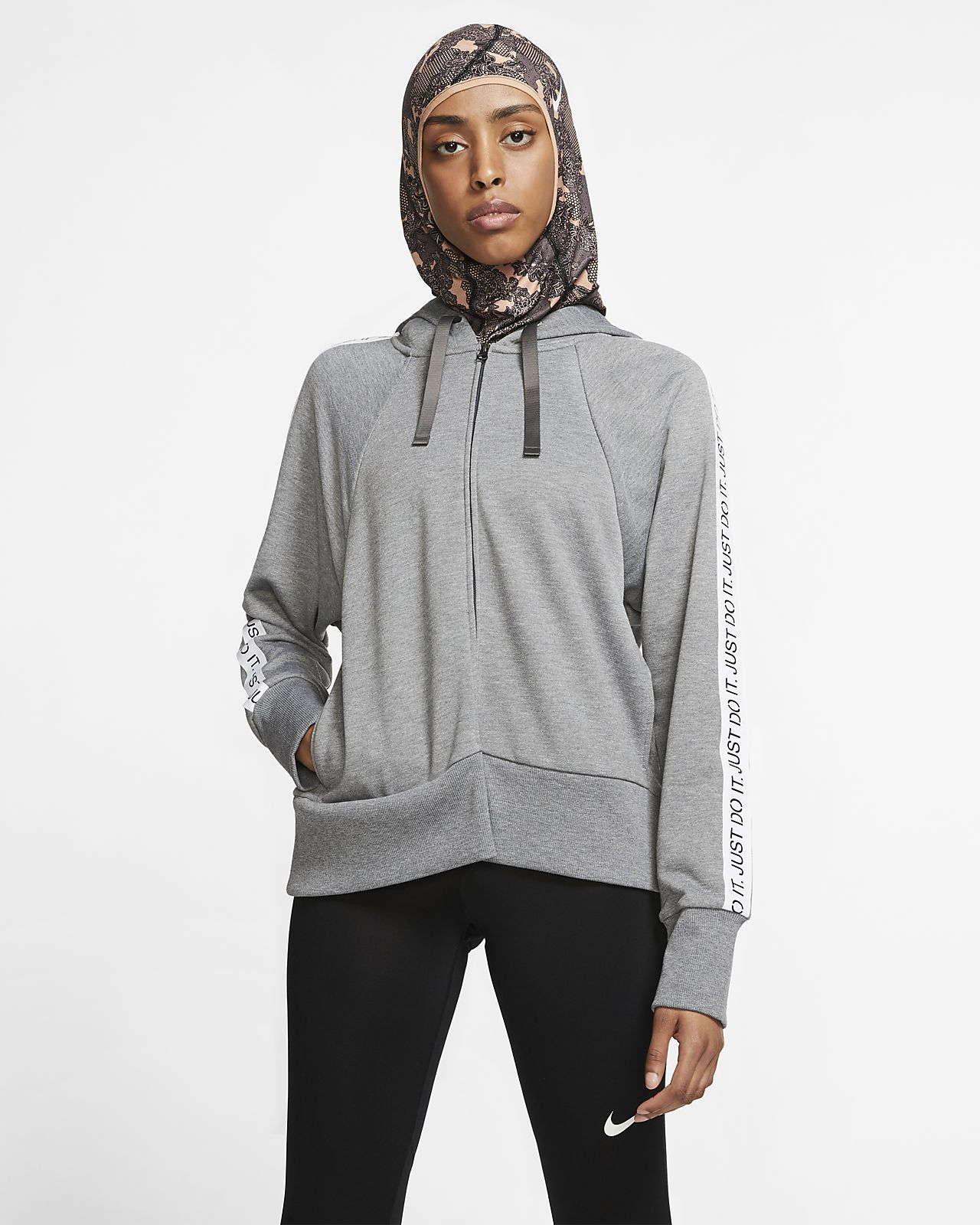 Nike Dri-FIT Get Fit Women's Full-Zip Fleece Training Hoodie