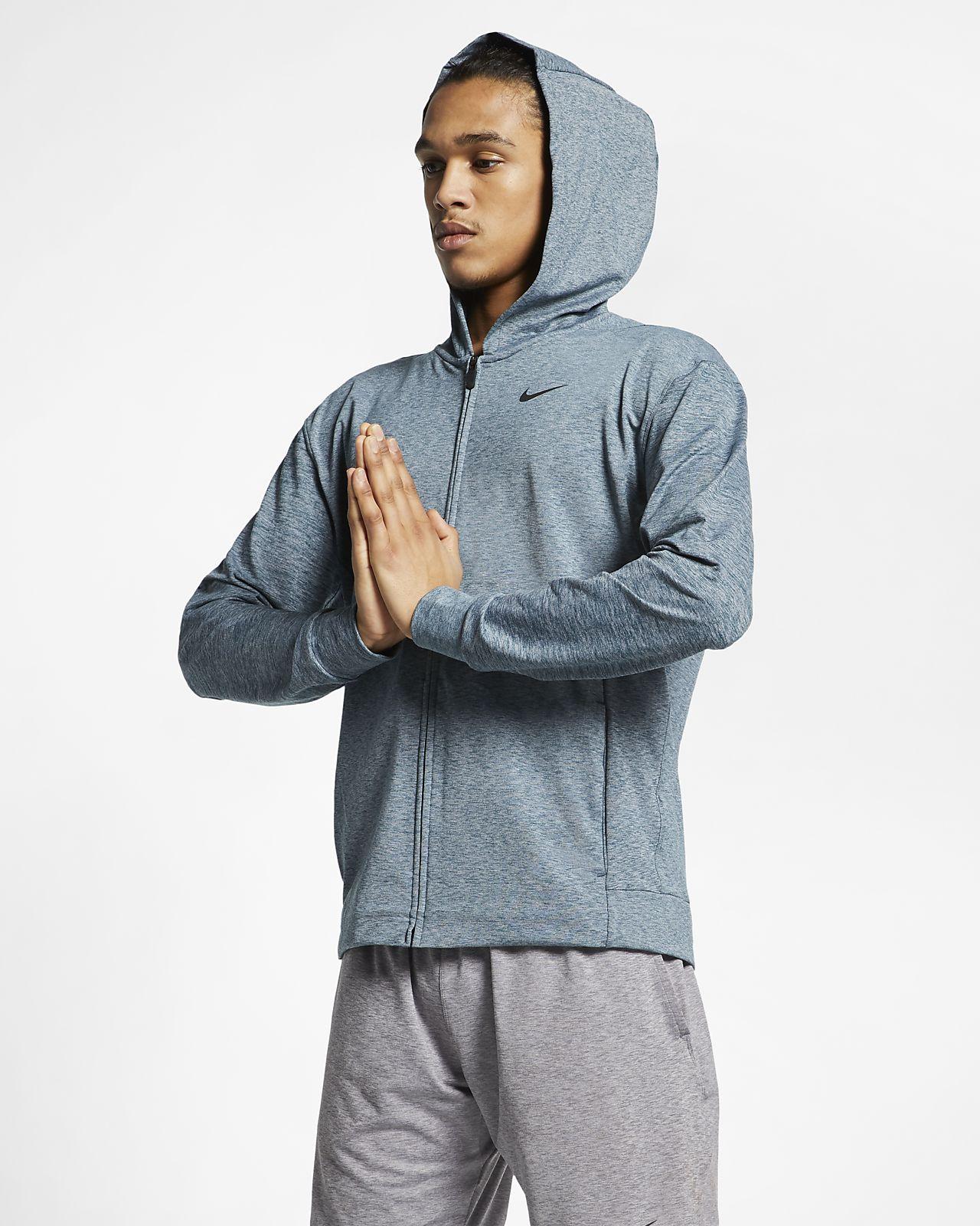 0418a5d2 Nike Dri-FIT Men's Full-Zip Yoga Training Hoodie. Nike.com