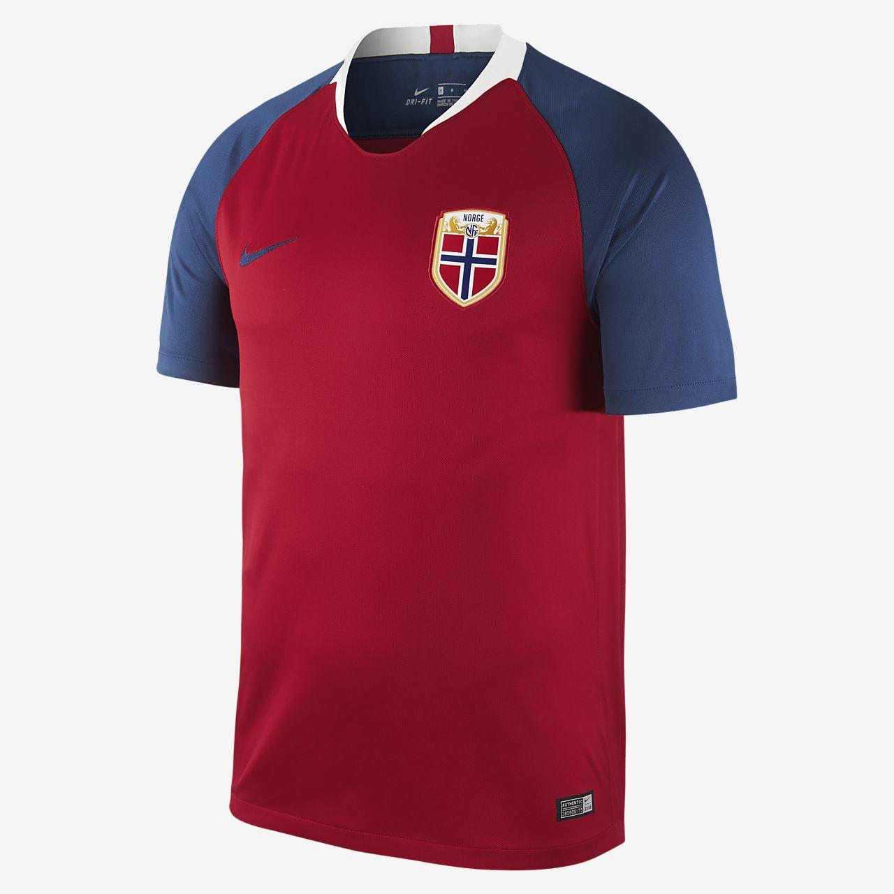 Camiseta de fútbol para hombre 2018 Norway Stadium Home