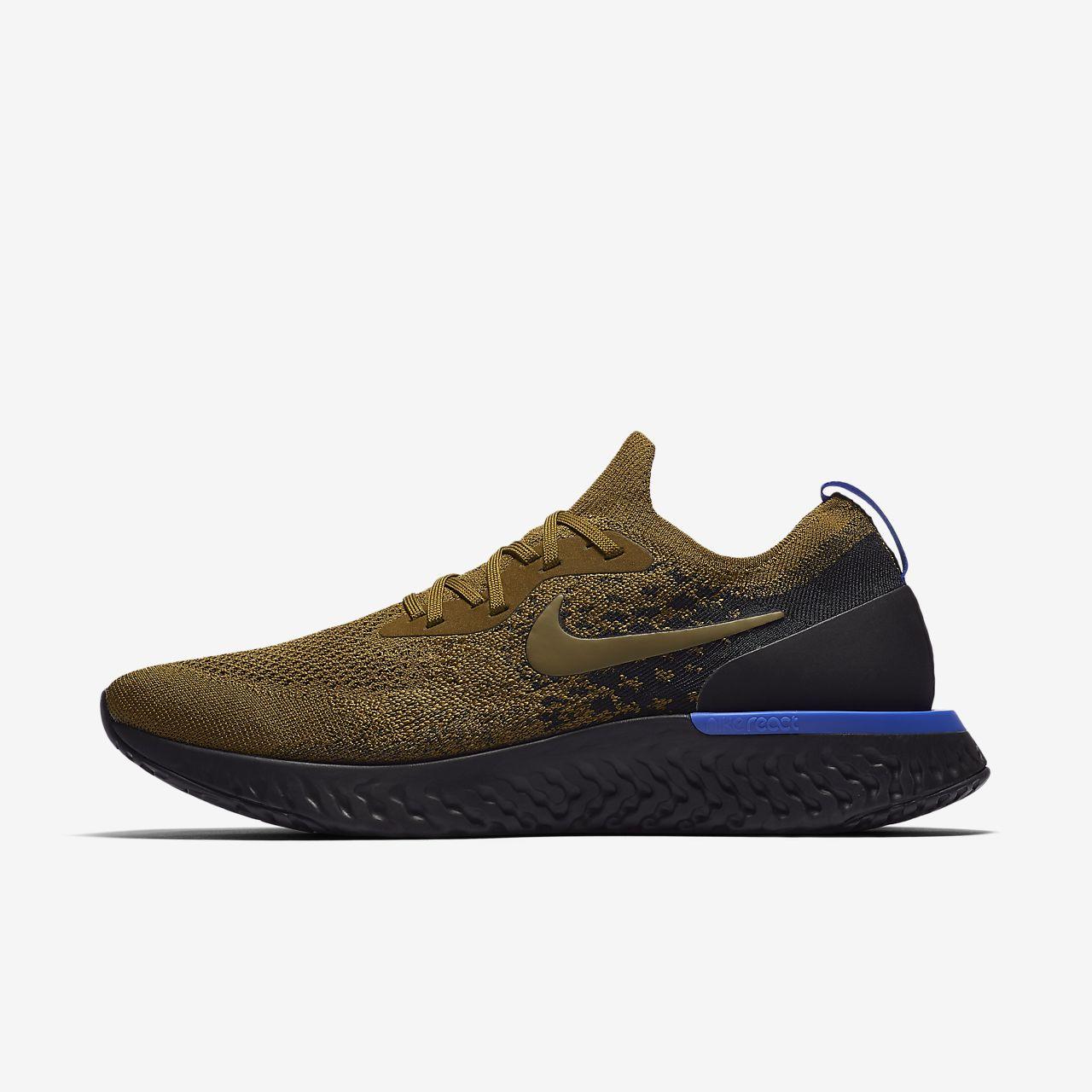 Nike Epic React Flyknit Mens Running Shoe Ca Tendencies Tops Jagger Olive L