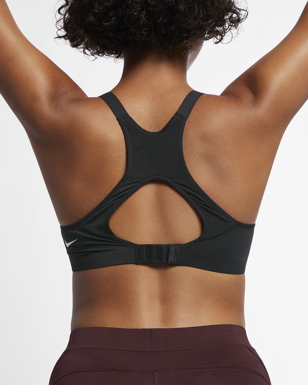 Nike Performance Breathe Bra Sport Bh Damen Orange