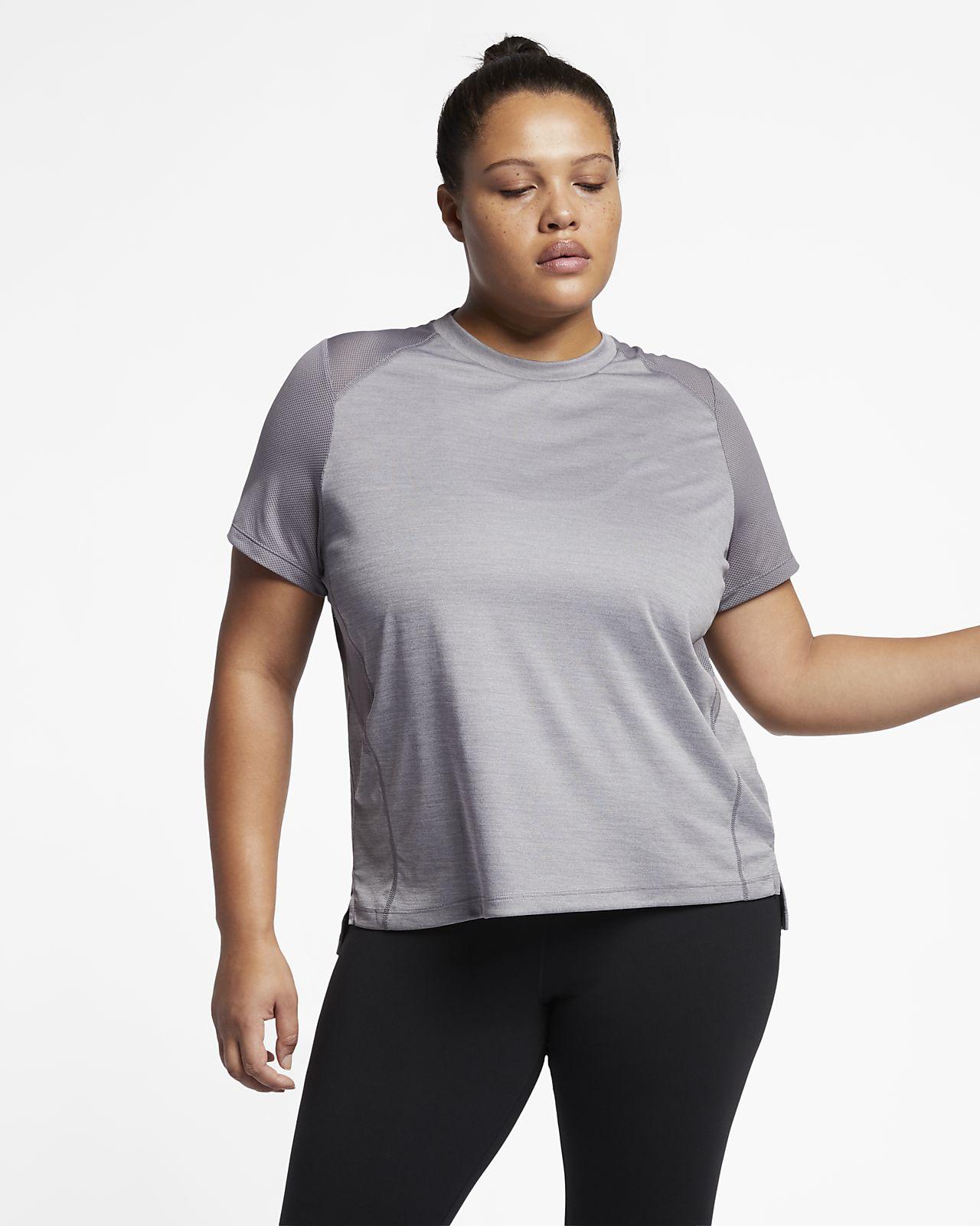 Nike Miler (Plus Size) Women s Short Sleeve Running Top. Nike.com 6f3fcbaa6