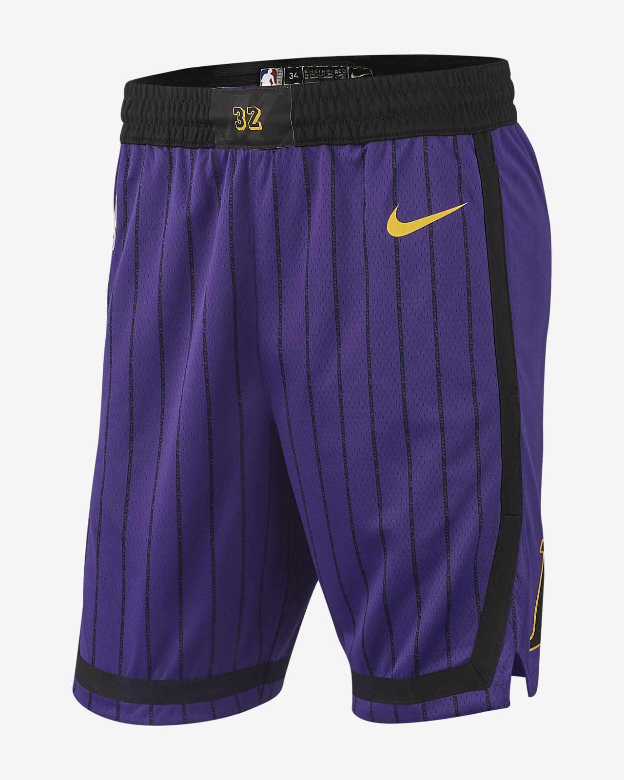 Los Angeles Lakers City Edition Swingman Men s Nike NBA Shorts. Nike ... 8ef1935e0