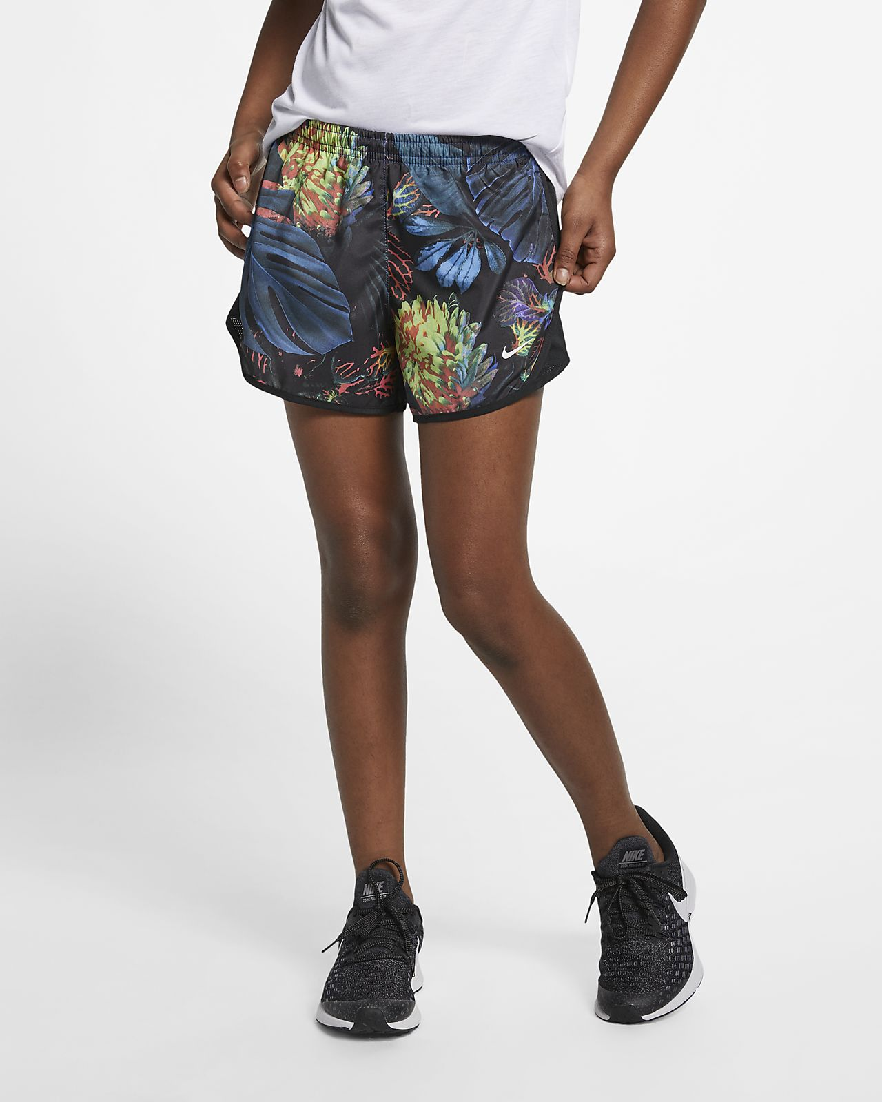 timeless design d9f9f 9d914 ... Nike Dri-FIT Tempo Big Kids  (Girls ) Printed Running Shorts