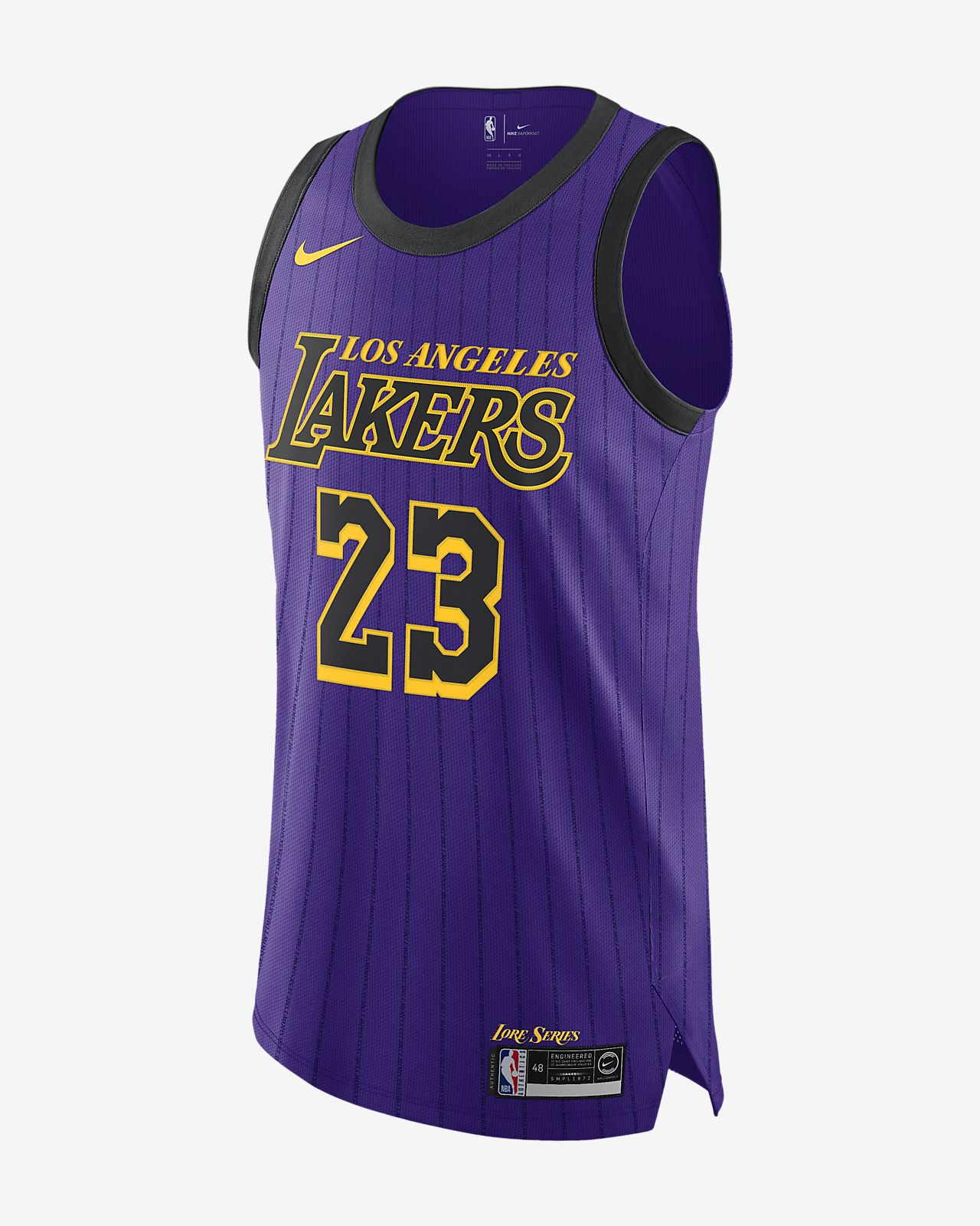LeBron James City Edition Authentic (Los Angeles Lakers) Men's Nike NBA Connected Jersey